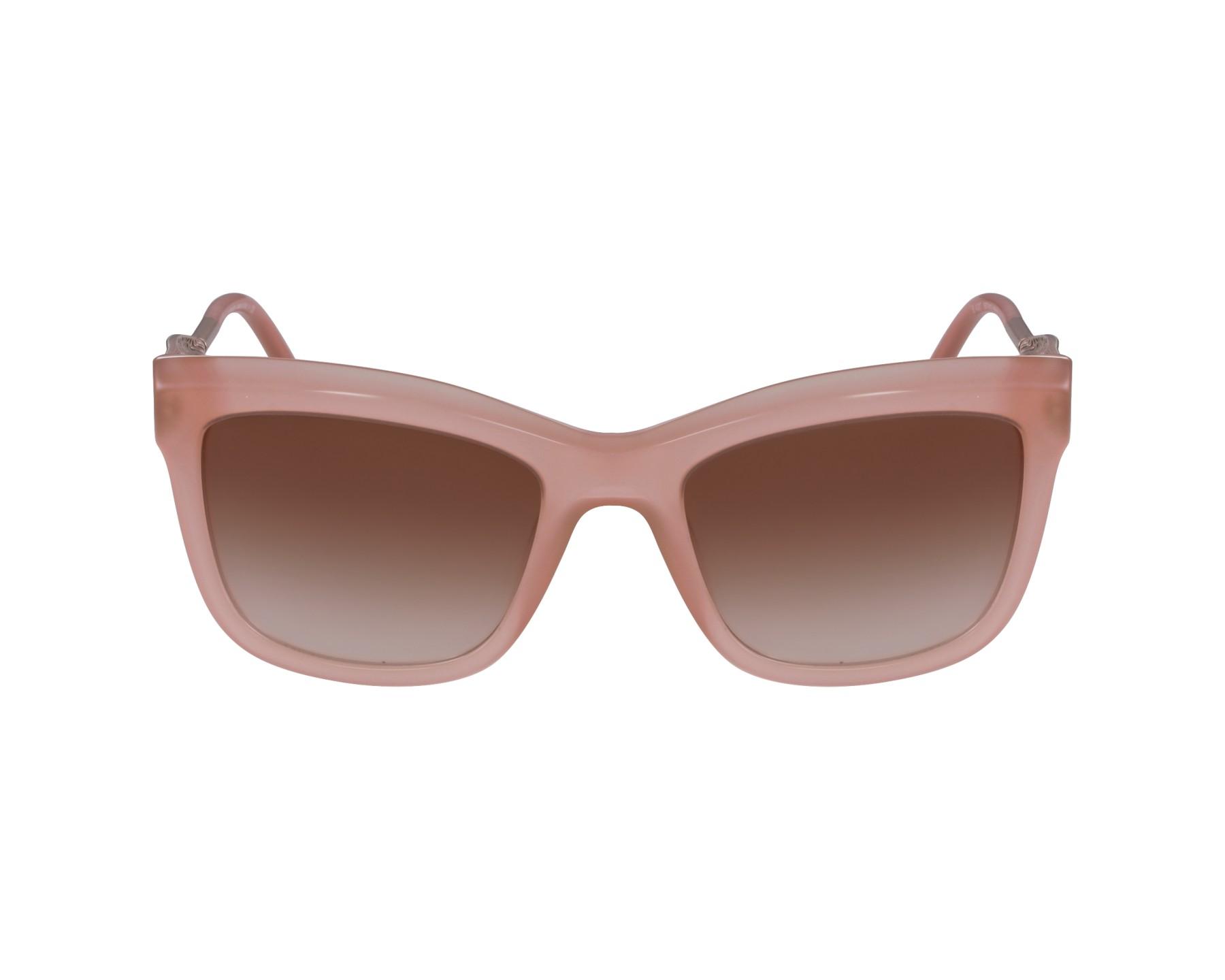 Lunettes de soleil burberry be 4207 3573 13 rose avec des verres marron - Verre lunette raye assurance ...