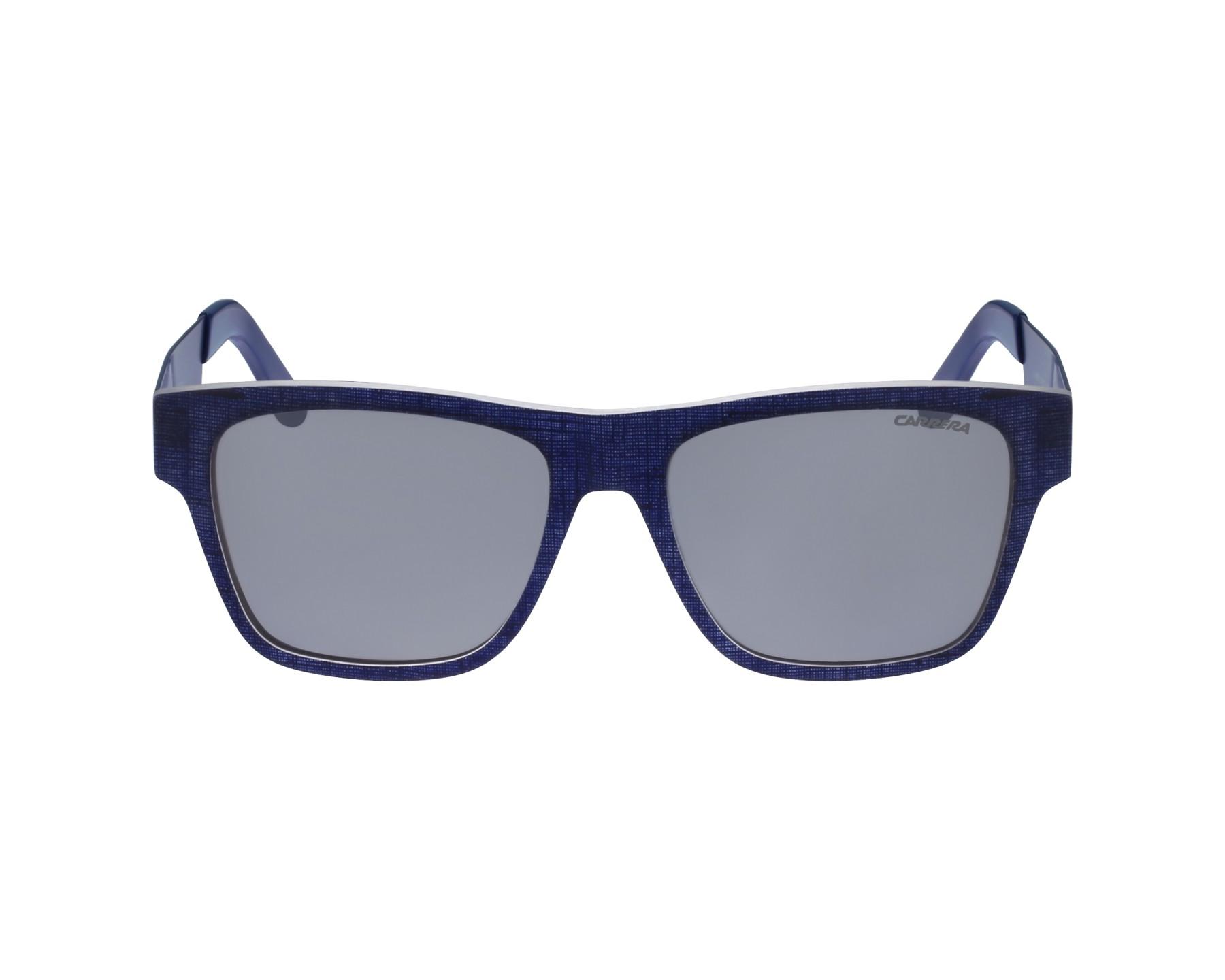 c3b617a6b0f0b2 Lunettes de soleil Carrera 5002-TX FTZ U4 - Bleu vue de profil