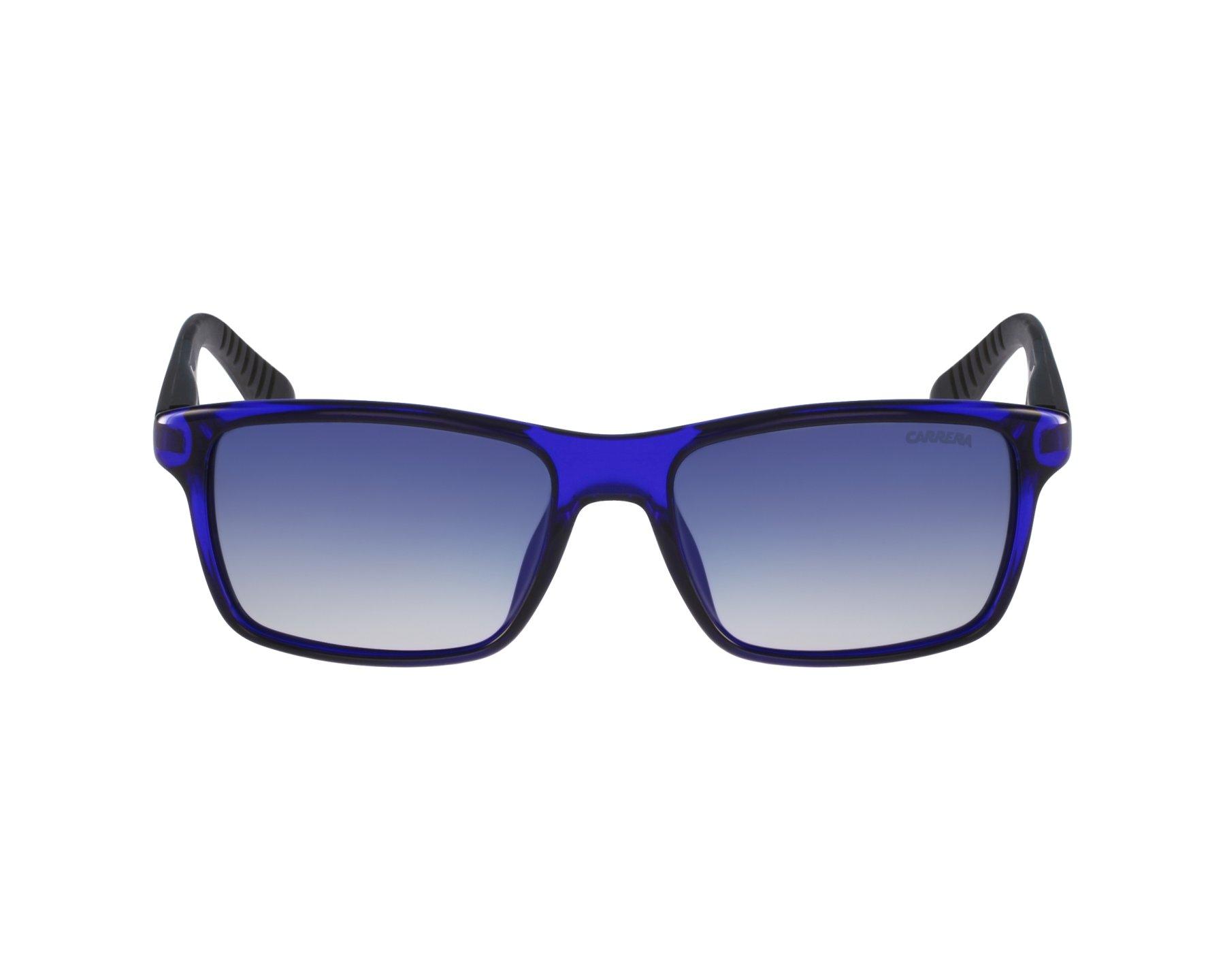 e210f48439cbc7 Lunettes de soleil Carrera 8002 0VI Z7 - Bleu Noir vue de profil