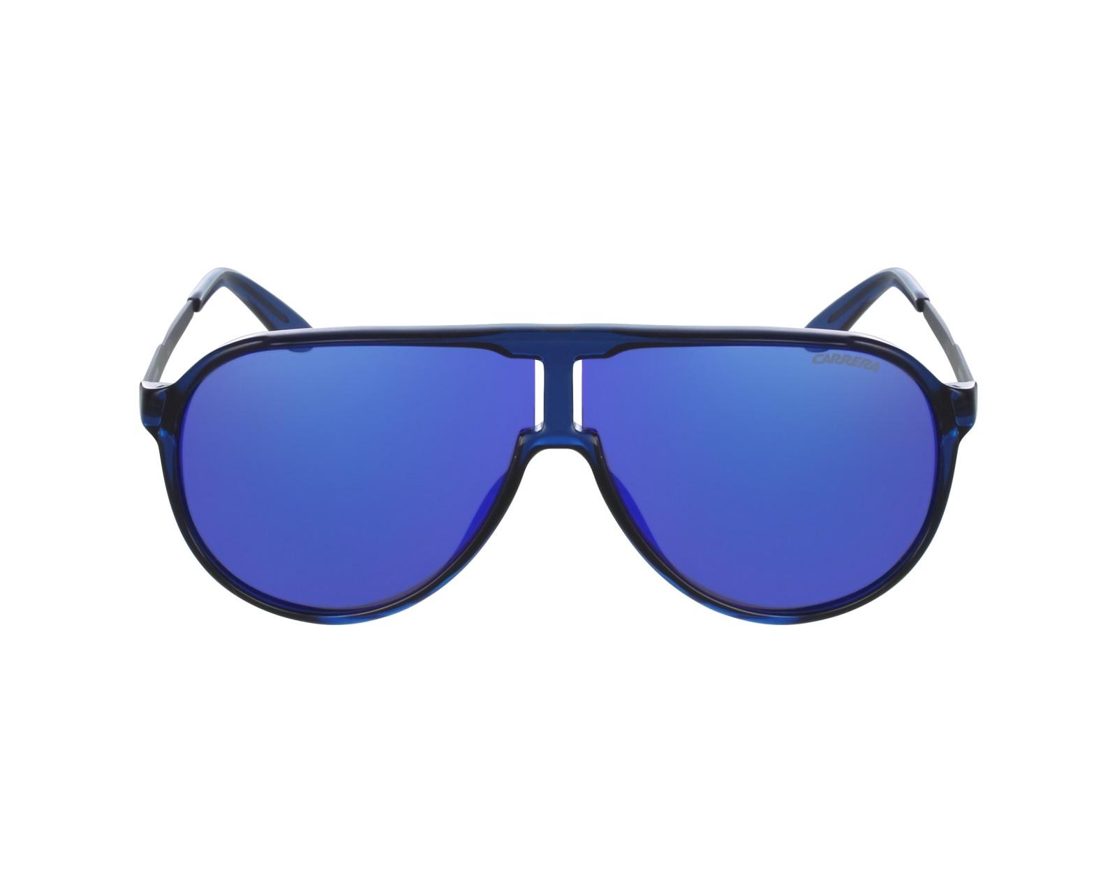 45048a6a3adab1 Lunettes de soleil Carrera New-Champion 8FS Z0 - Bleu Pierre vue de profil