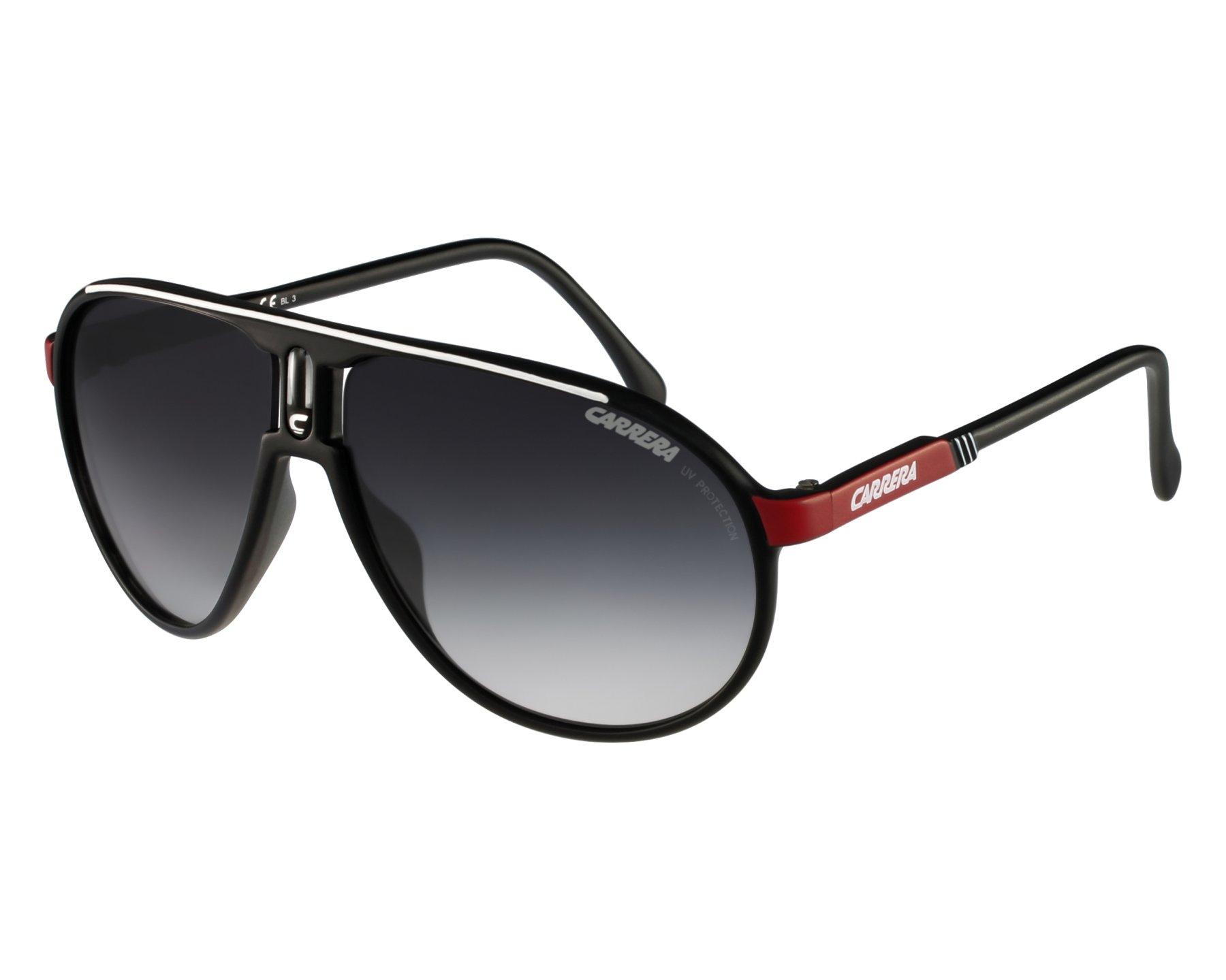 350985bff1075 Lunettes de soleil Carrera Champion-G WSG 90 - Noir Rouge vue de face