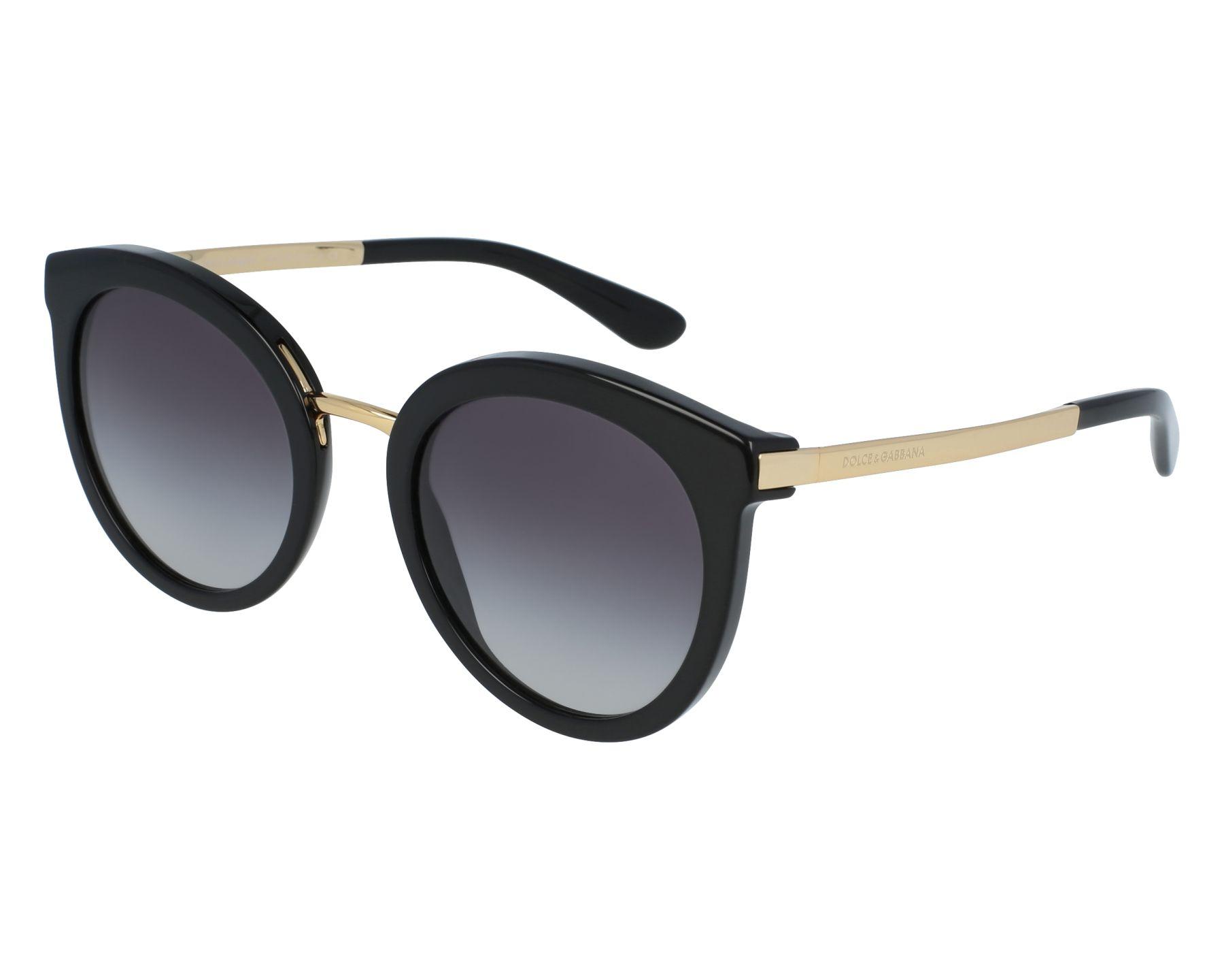 lunettes de soleil dolce gabbana dg 4268 501 8g noir avec des verres gris pour femmes taille. Black Bedroom Furniture Sets. Home Design Ideas