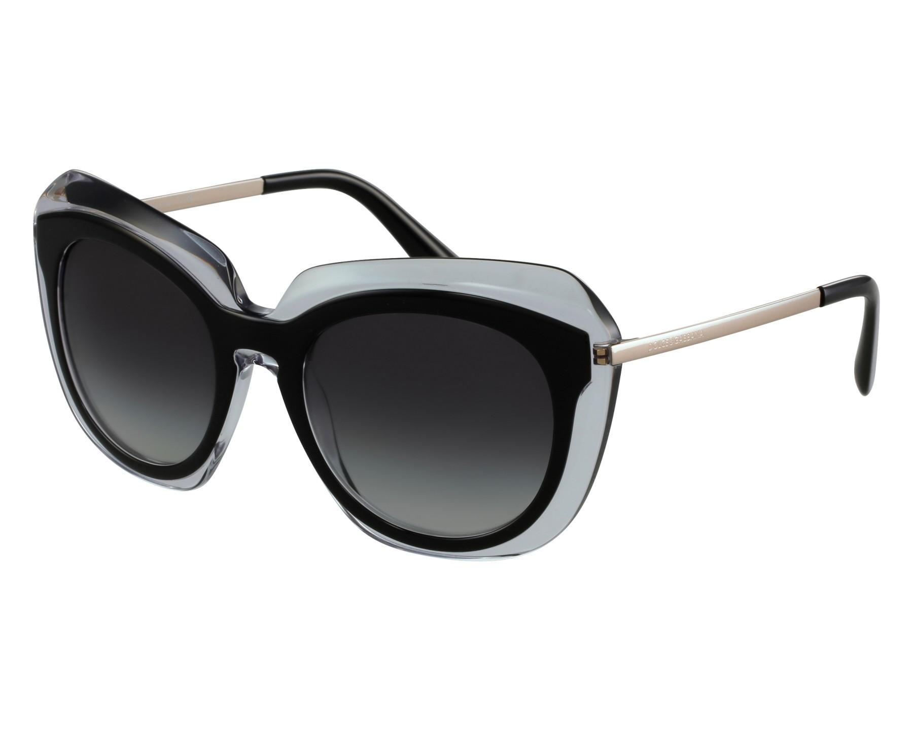 lunettes de soleil dolce gabbana dg 4282 675 8g noir avec des verres gris pour femmes. Black Bedroom Furniture Sets. Home Design Ideas