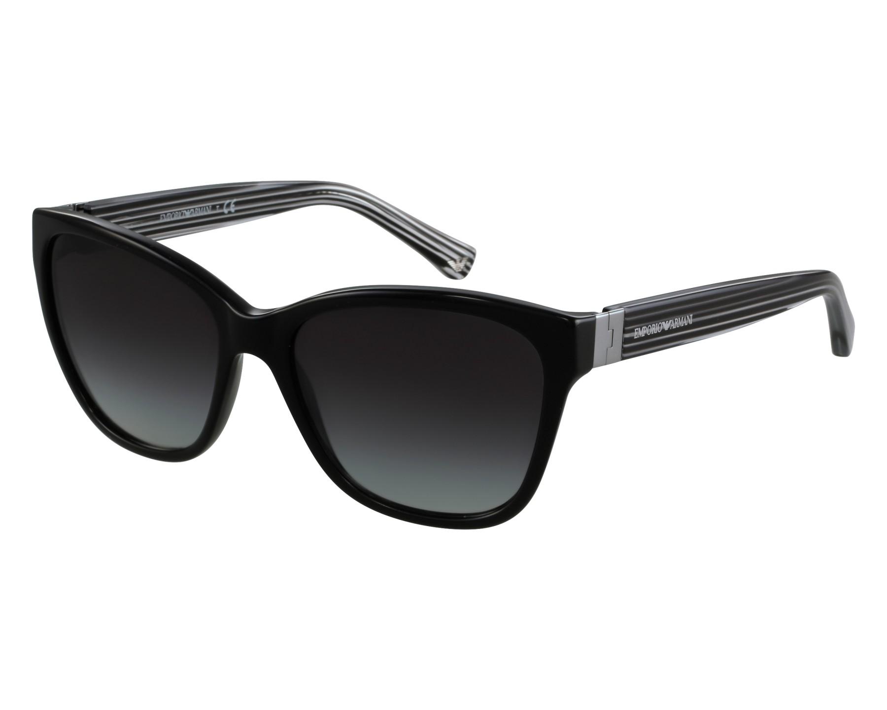 Lunettes de soleil emporio armani ea 4068 5017 8g noir avec des verres gris - Verre lunette raye assurance ...