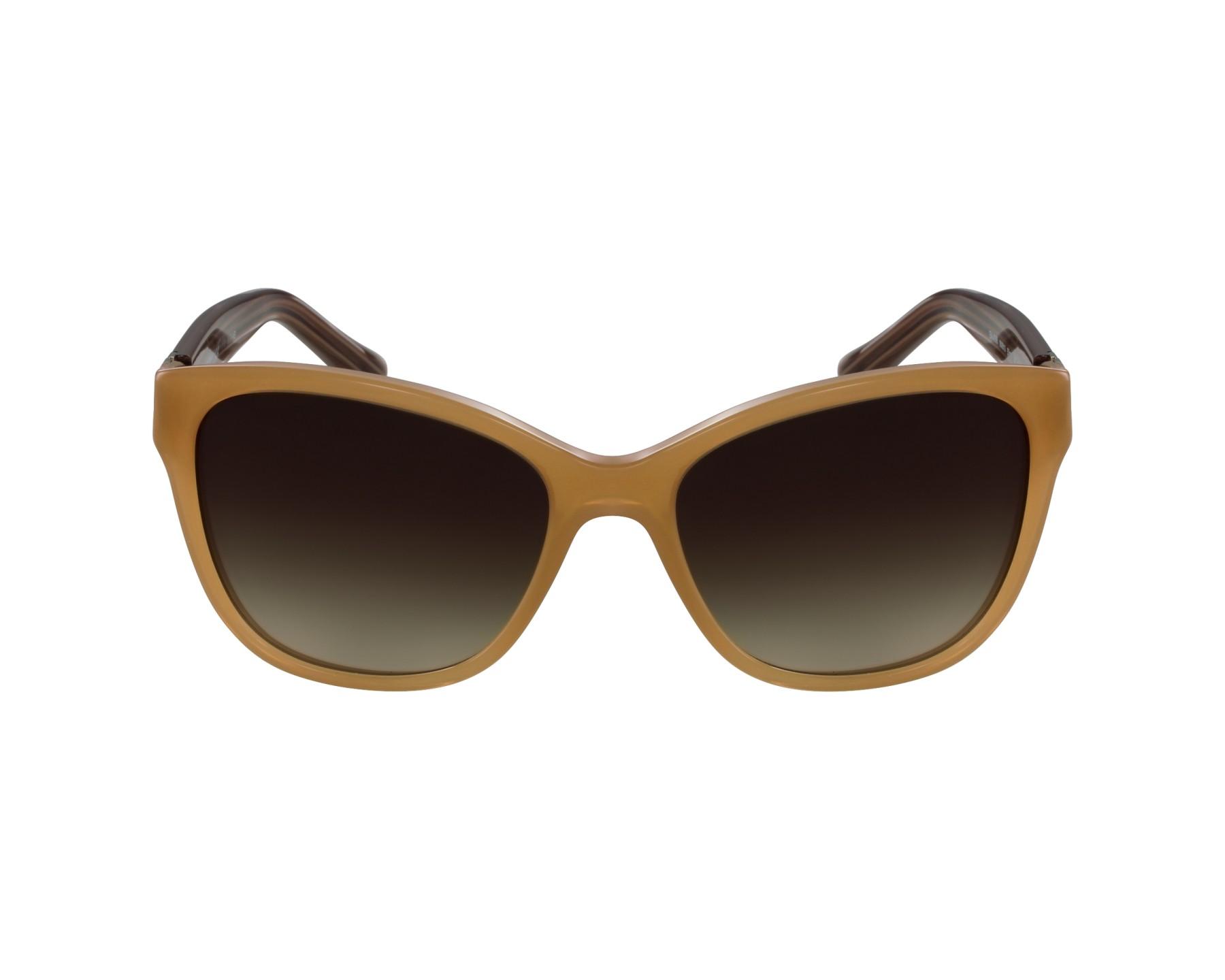 Lunettes de soleil emporio armani ea 4068 5506 13 beige avec des verres marron - Verre lunette raye assurance ...