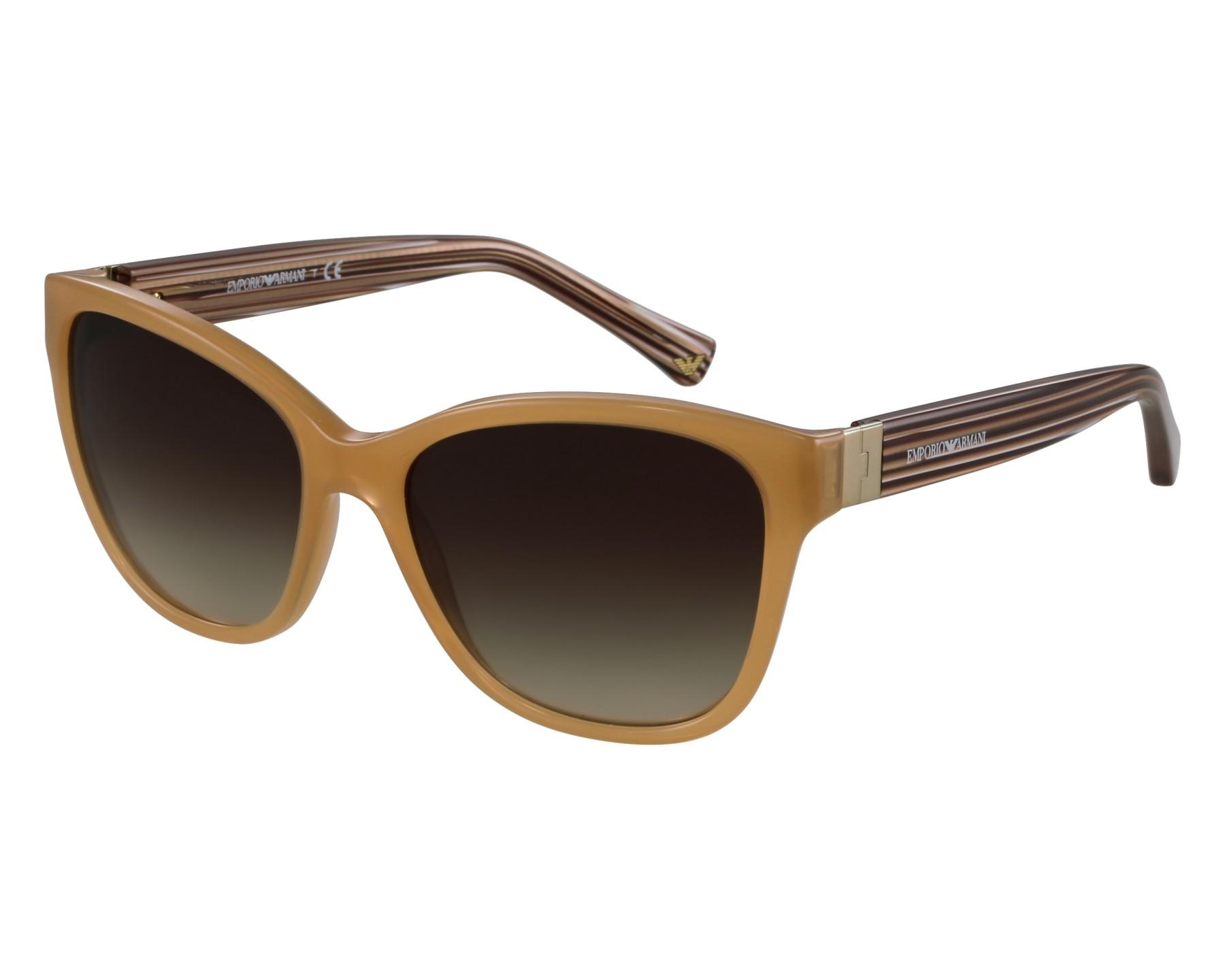 lunettes de soleil emporio armani ea 4068 5506 13 beige avec des verres marron. Black Bedroom Furniture Sets. Home Design Ideas