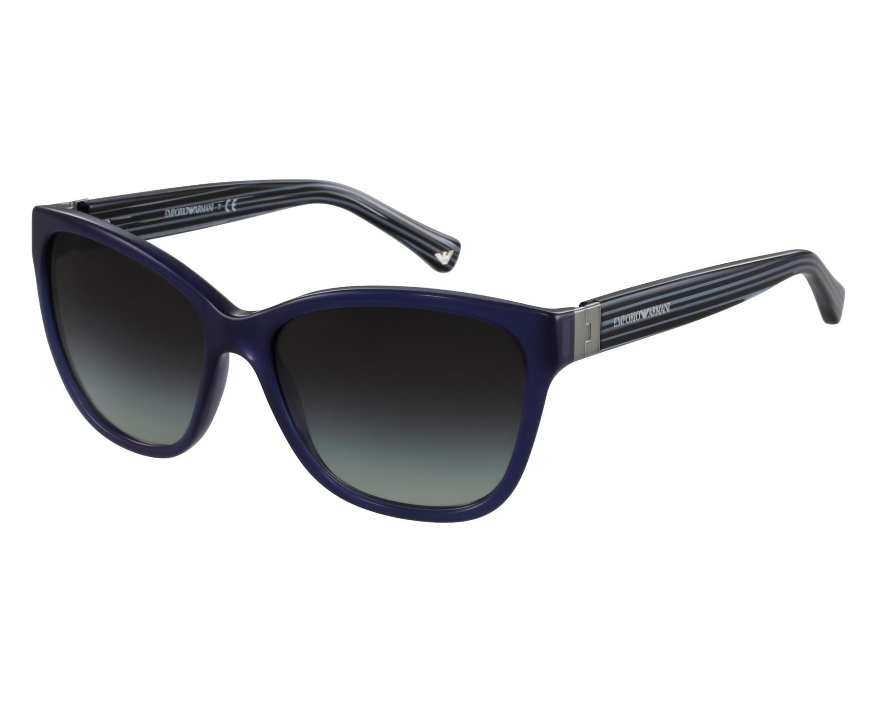 lunettes de soleil emporio armani ea 4068 5518 8g bleu avec des verres gris. Black Bedroom Furniture Sets. Home Design Ideas