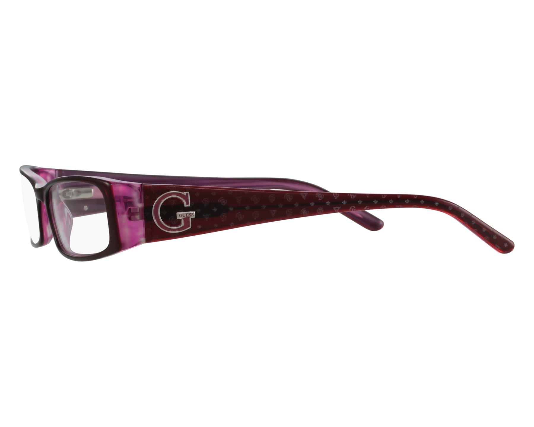 ca8a76183e Lunettes de vue Guess GU-1589 BU 52-16 Violet vue de face