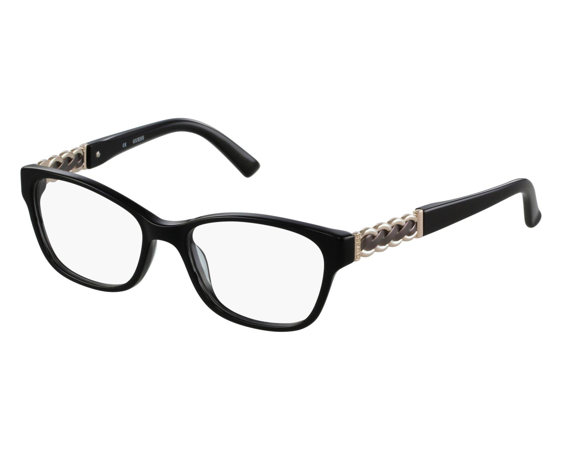achat lunettes de vue guess gu 2382 blk visionet. Black Bedroom Furniture Sets. Home Design Ideas