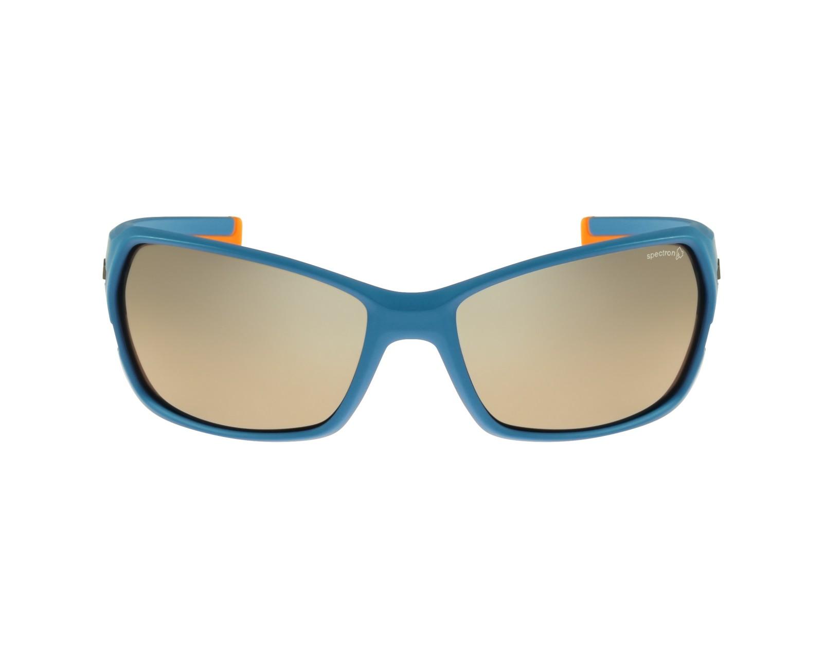 lunettes de soleil julbo j474 1212 bleu avec des verres marron. Black Bedroom Furniture Sets. Home Design Ideas