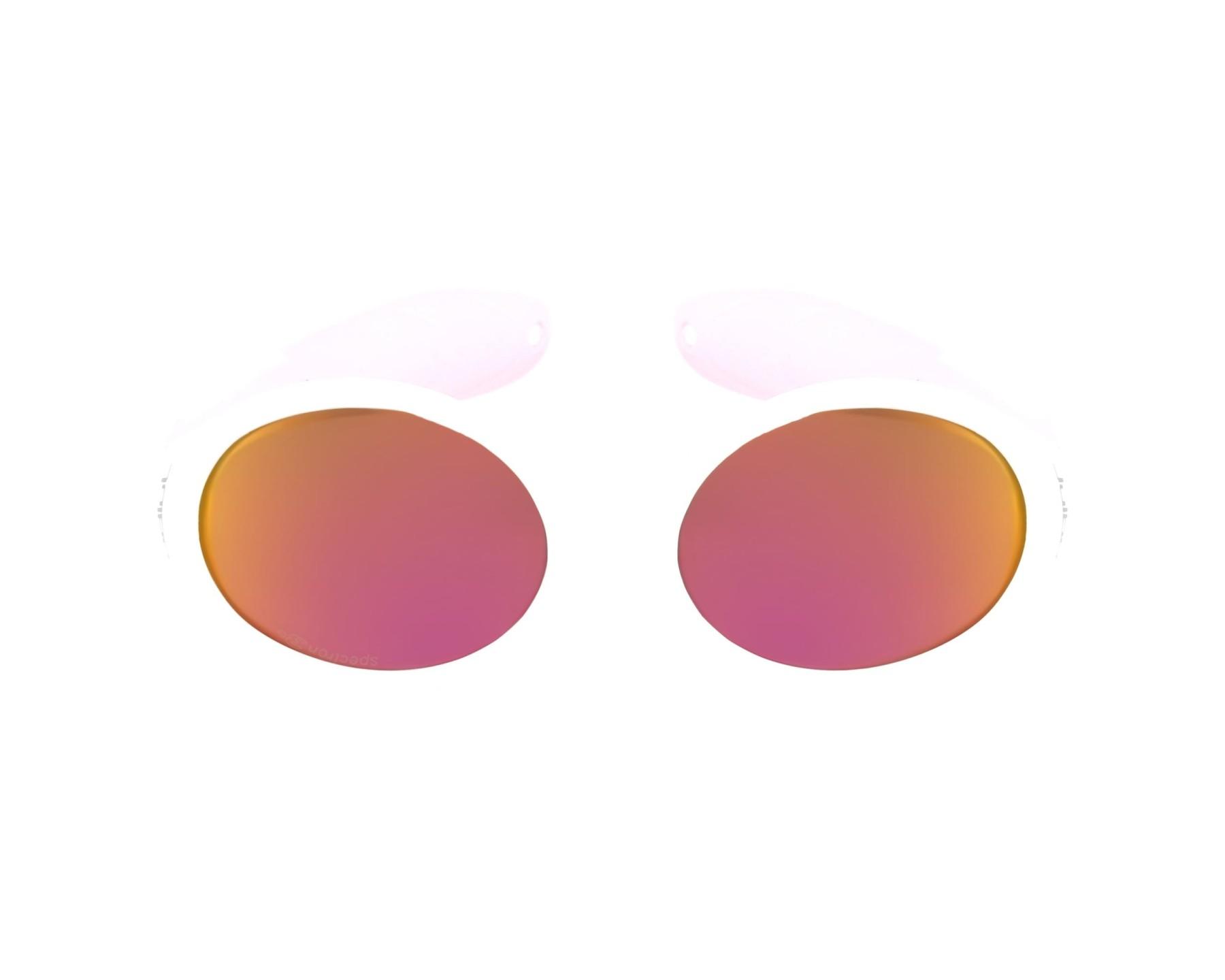 2597ed416f8e9 Lunettes de soleil Julbo J349 1111C 45-15 Blanc Rose vue de profil