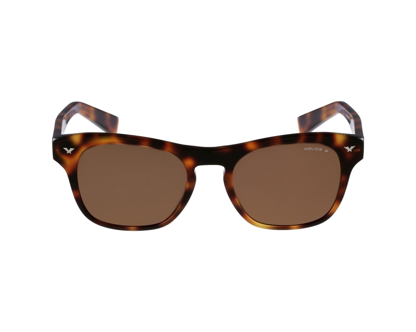 lunettes de soleil police s 1952 9ajp havane avec des verres marron pour hommes. Black Bedroom Furniture Sets. Home Design Ideas