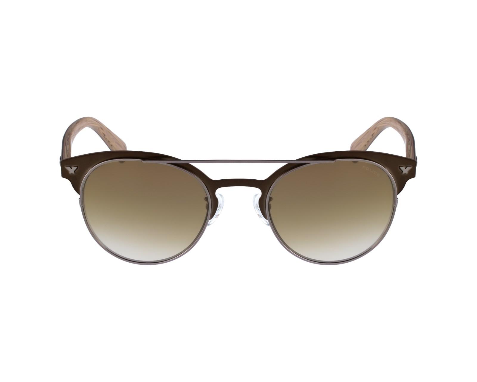 lunettes de soleil police s 8950 548x bronze avec des verres marron pour hommes taille 51 pour. Black Bedroom Furniture Sets. Home Design Ideas