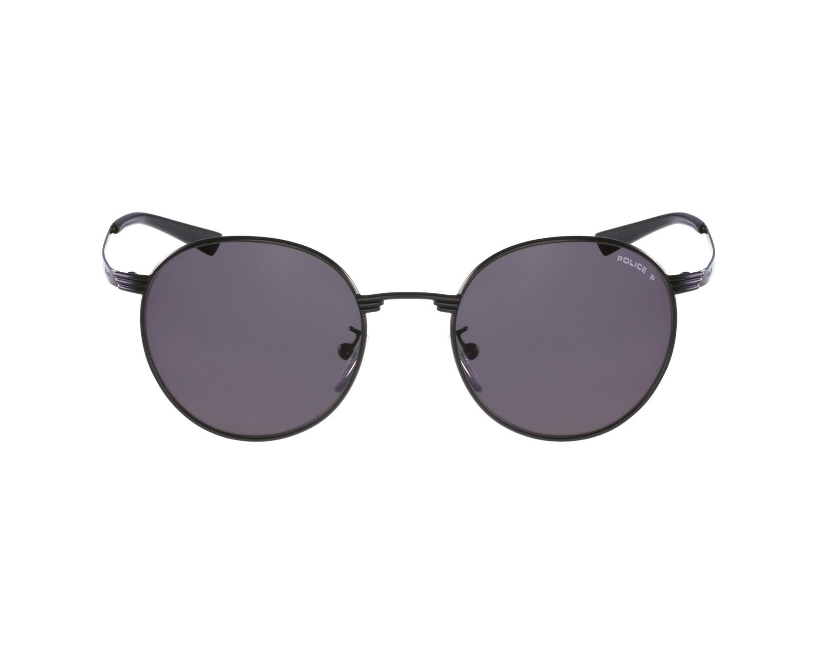 lunettes de soleil police s 8954 568p noir avec des verres gris pour hommes. Black Bedroom Furniture Sets. Home Design Ideas