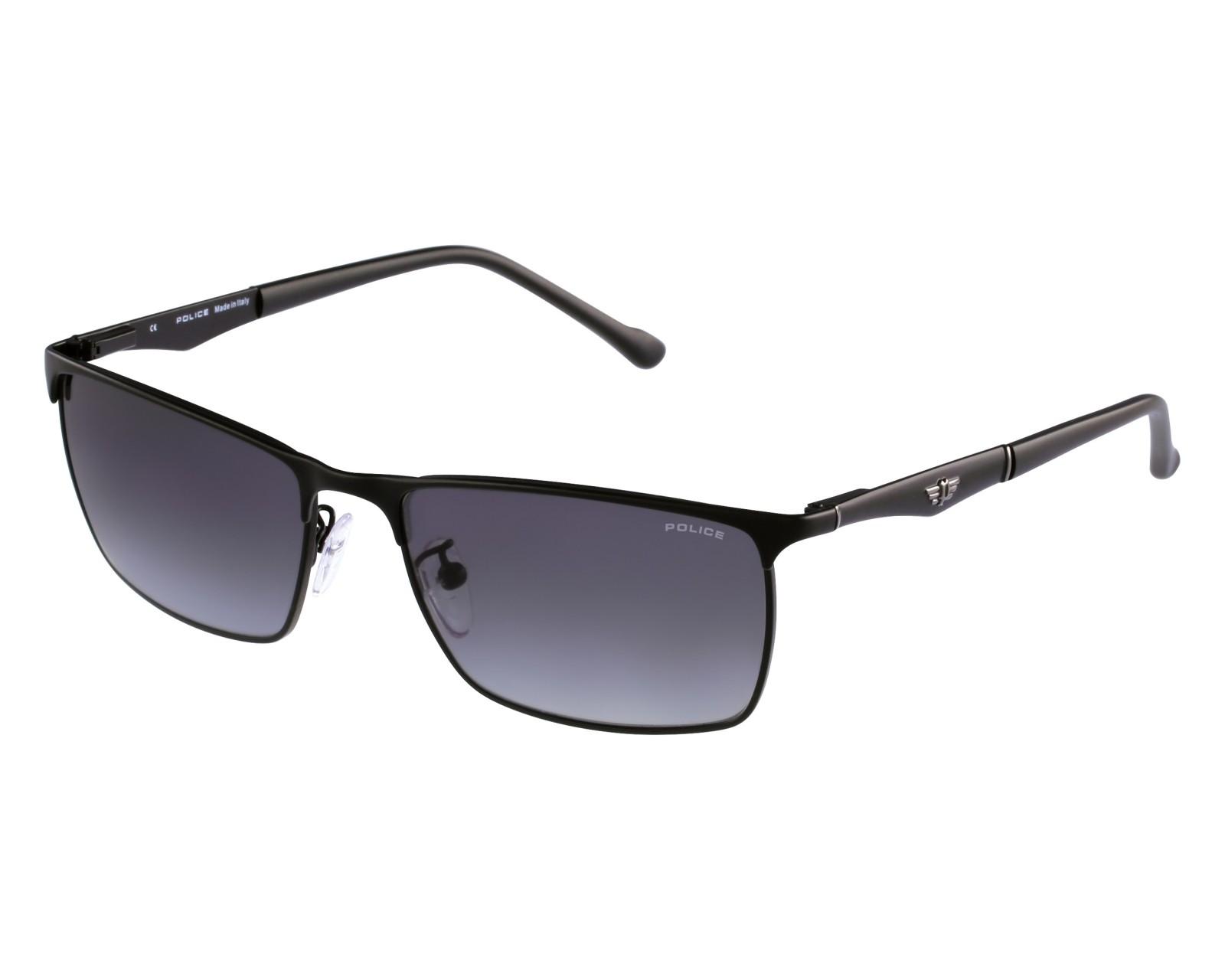 lunettes de soleil police s 8969 s08f noir avec des verres gris pour hommes taille 65 pour 108 00. Black Bedroom Furniture Sets. Home Design Ideas