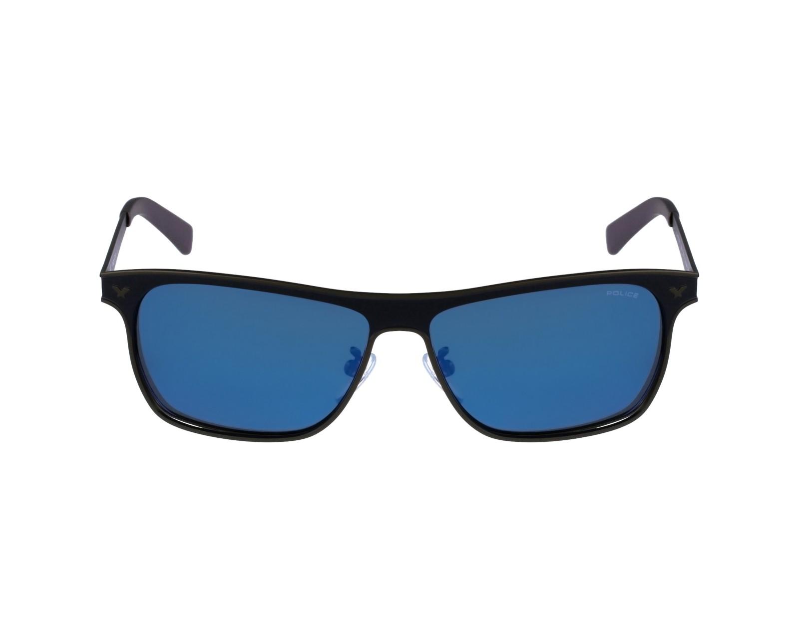 lunettes de soleil police s 8948 snfp bleu avec des verres gris pour hommes. Black Bedroom Furniture Sets. Home Design Ideas
