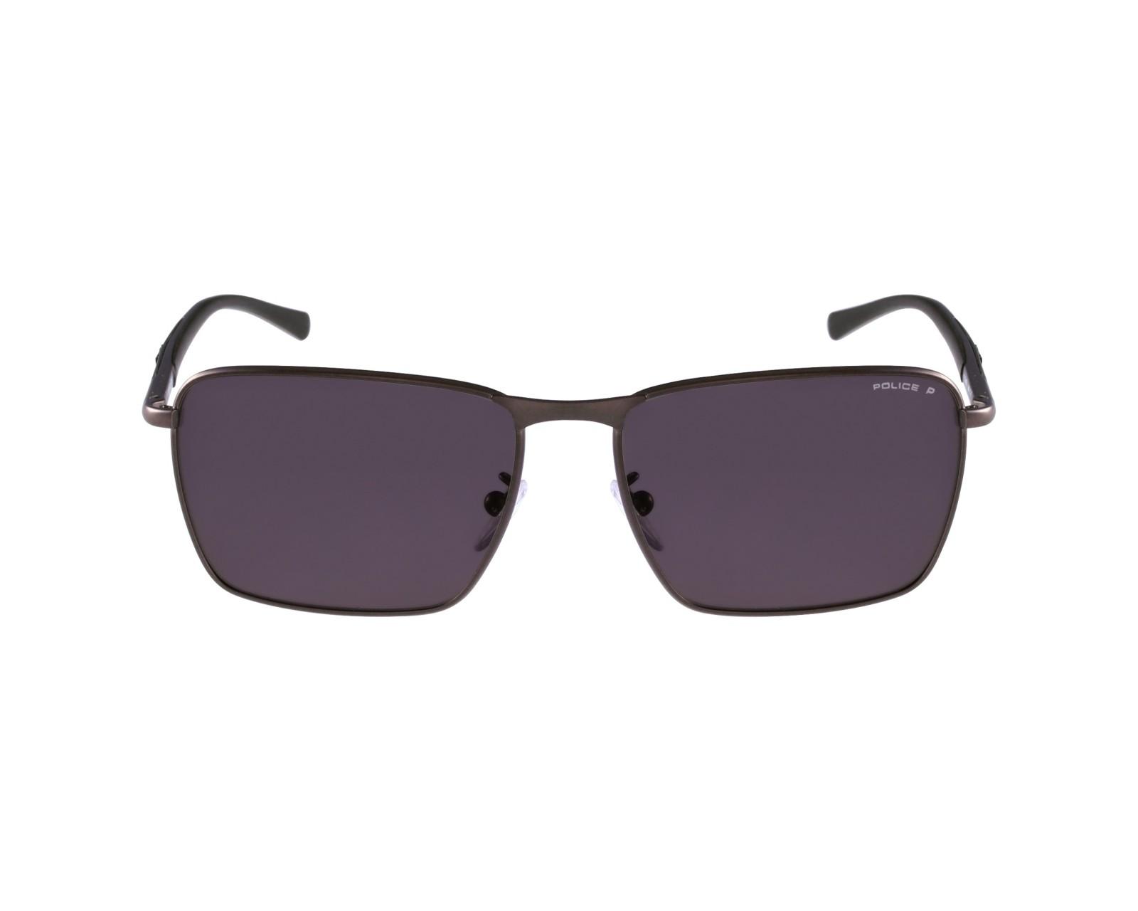 lunettes de soleil police s 8966 627p gris avec des verres gris pour hommes. Black Bedroom Furniture Sets. Home Design Ideas