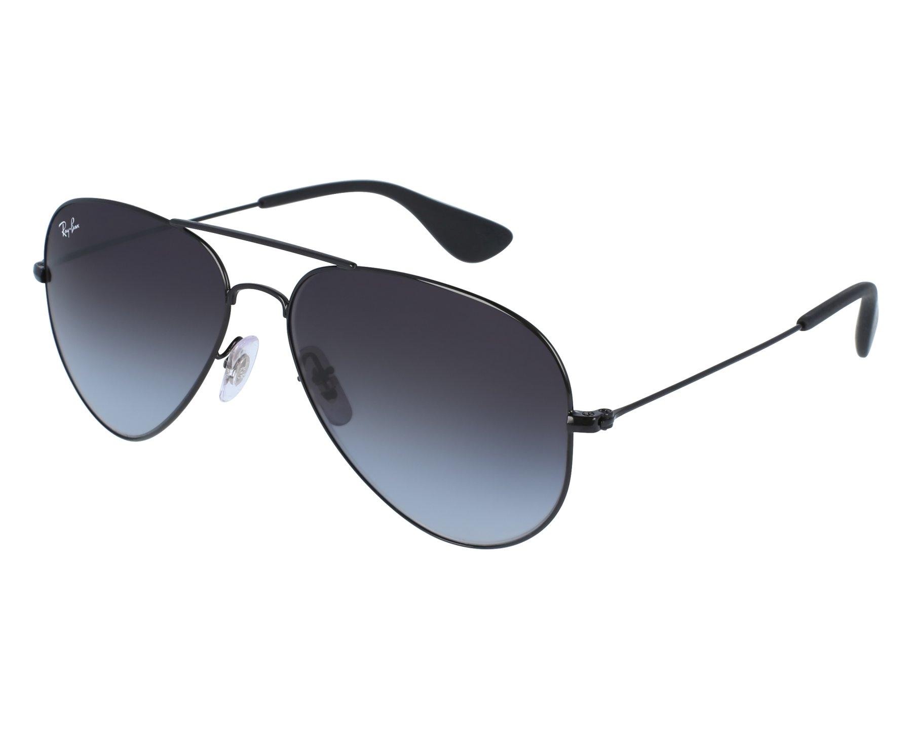 lunettes de soleil ray ban rb 3558 002 8g noir avec des verres gris. Black Bedroom Furniture Sets. Home Design Ideas