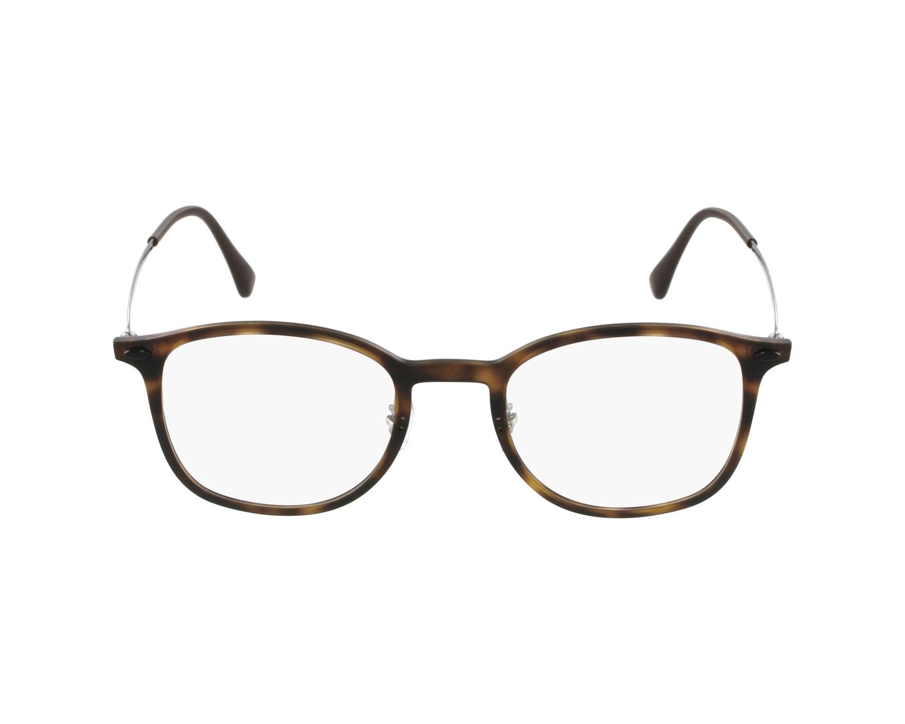 lunettes de vue ray ban rx 7051 5200 havane. Black Bedroom Furniture Sets. Home Design Ideas