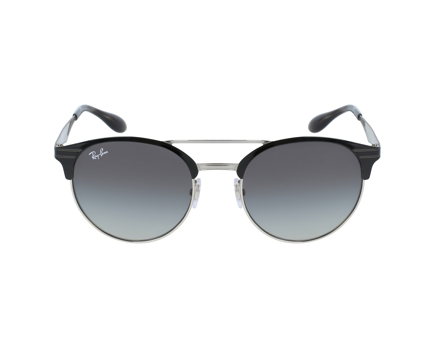 lunettes de soleil ray ban rb 3545 9004 11 noir avec des verres gris. Black Bedroom Furniture Sets. Home Design Ideas