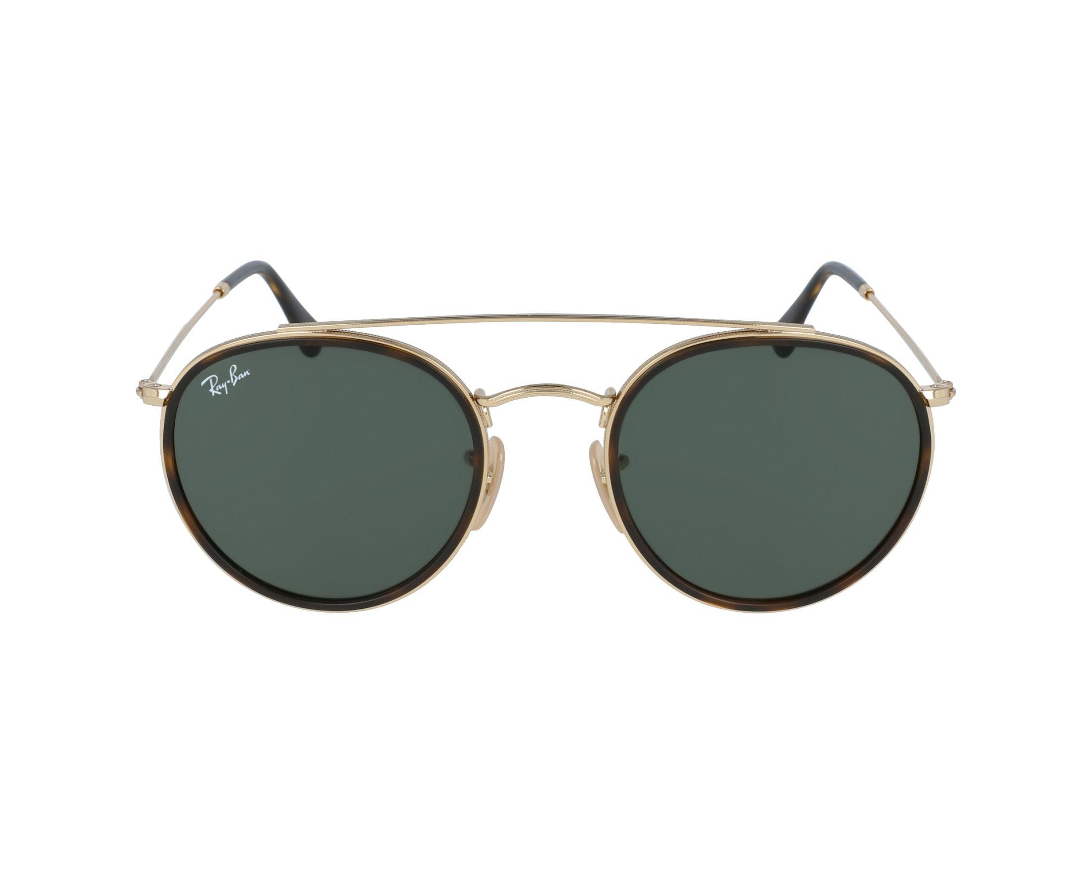 lunettes de soleil ray ban rb 3647 n 001 or avec des verres gris vert. Black Bedroom Furniture Sets. Home Design Ideas