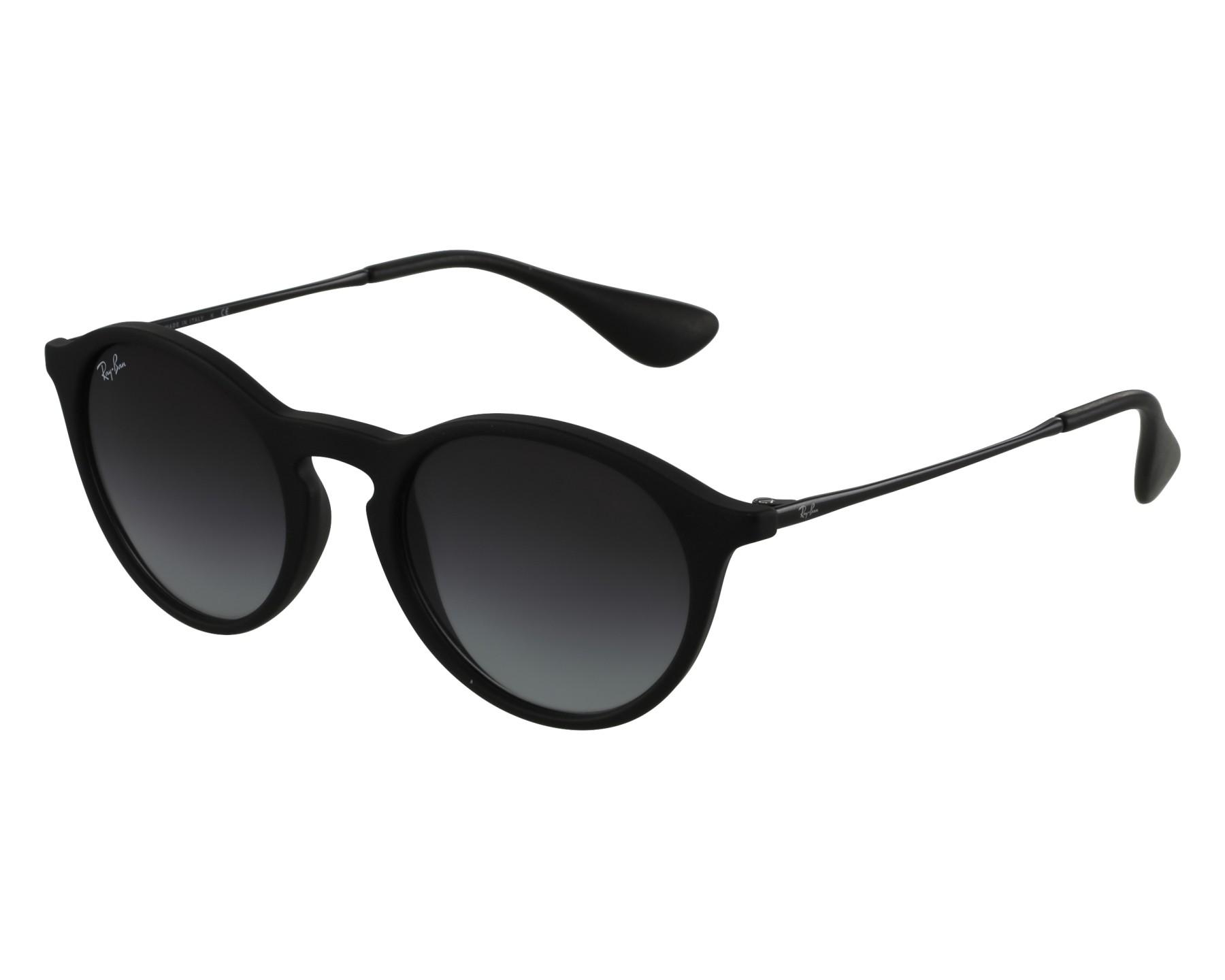 lunettes de soleil ray ban rb 4243 622 8g noir avec des verres gris. Black Bedroom Furniture Sets. Home Design Ideas