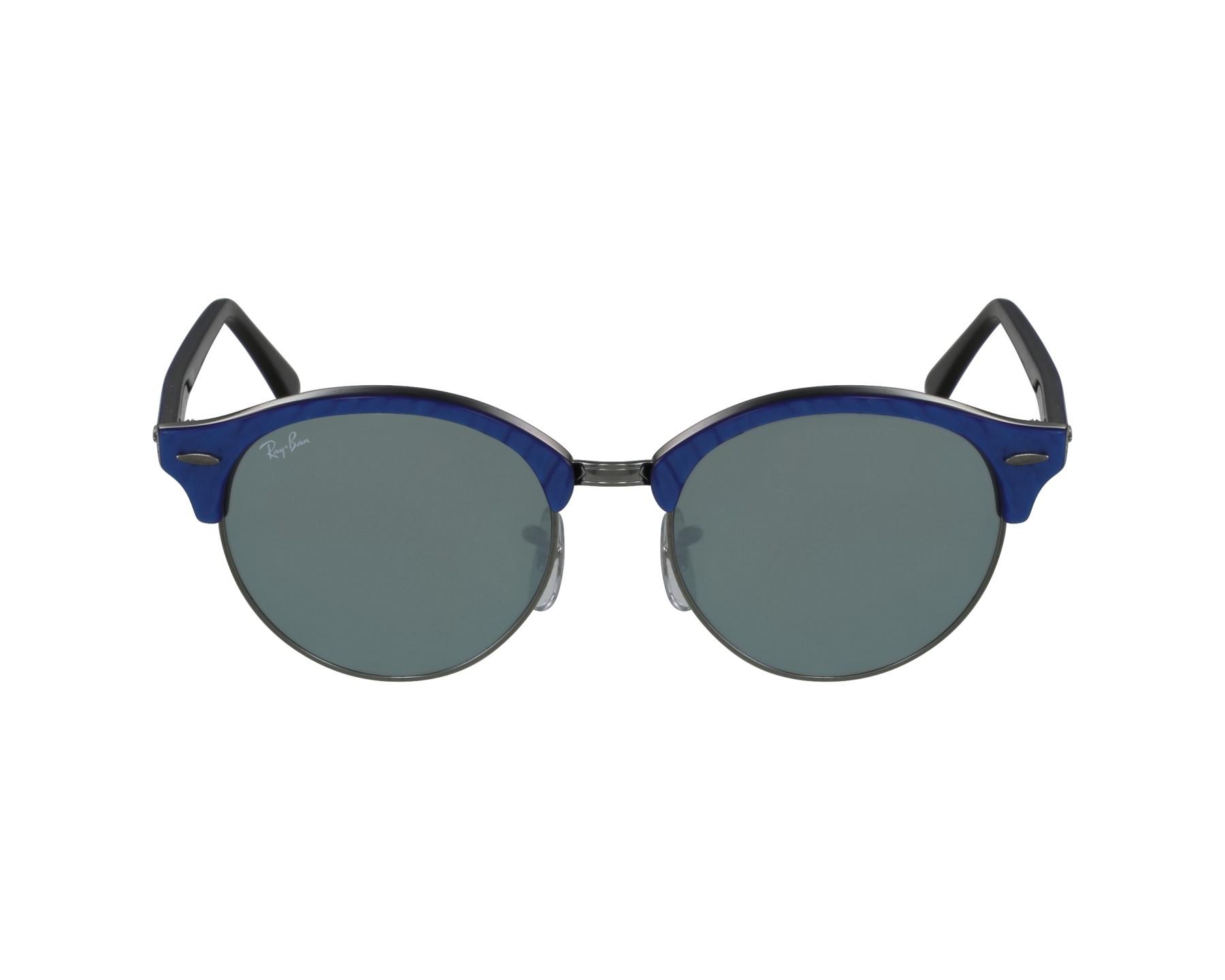 lunettes de soleil ray ban rb 4246 984 30 bleu avec des verres gris vert pour mixte. Black Bedroom Furniture Sets. Home Design Ideas