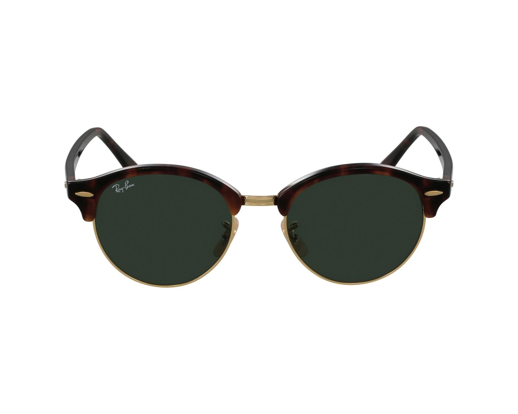 lunettes de soleil ray ban rb 4246 990 havane avec des verres gris vert pour mixte. Black Bedroom Furniture Sets. Home Design Ideas