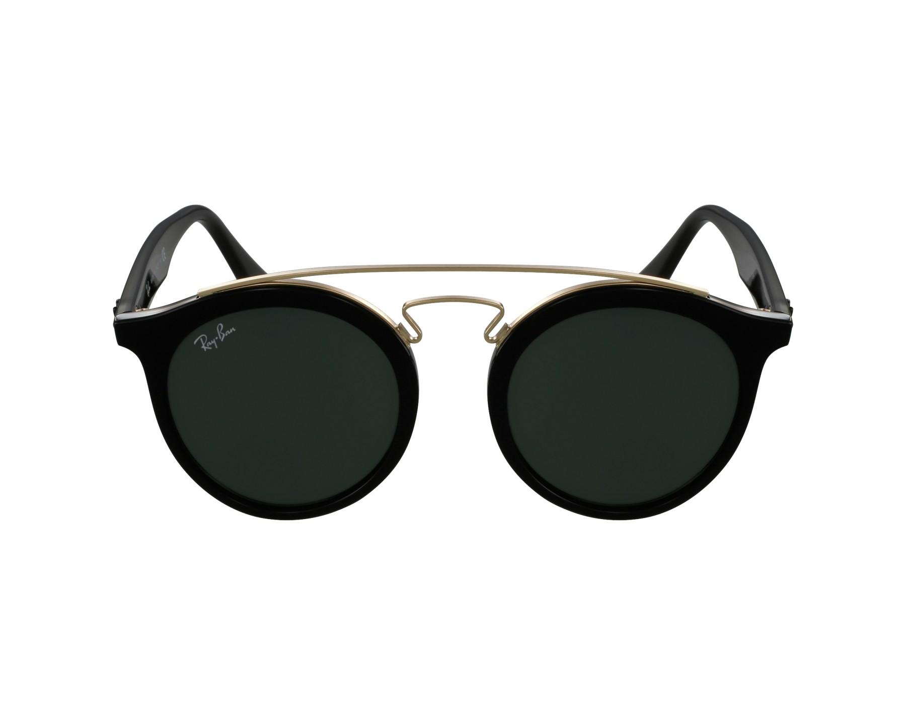 lunettes de soleil ray ban rb 4256 601 71 noir avec des verres gris vert. Black Bedroom Furniture Sets. Home Design Ideas