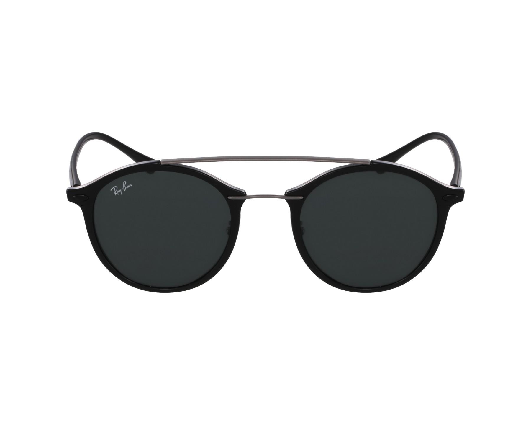 lunettes de soleil ray ban rb 4266 601 71 noir avec des verres vert pour mixte. Black Bedroom Furniture Sets. Home Design Ideas