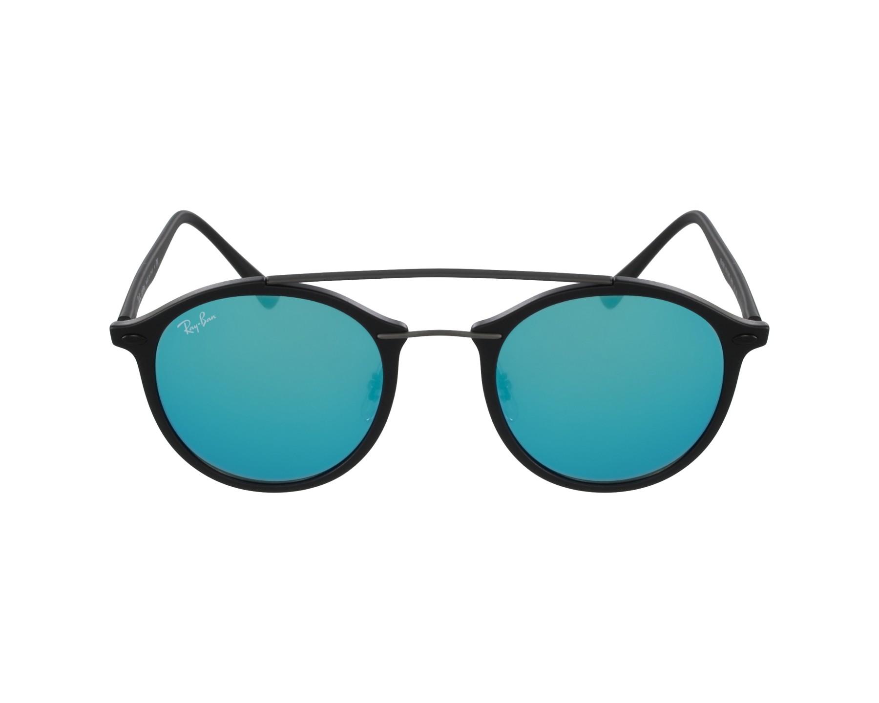 lunettes de soleil ray ban rb 4266 601s55 noir avec des verres gris vert pour hommes. Black Bedroom Furniture Sets. Home Design Ideas
