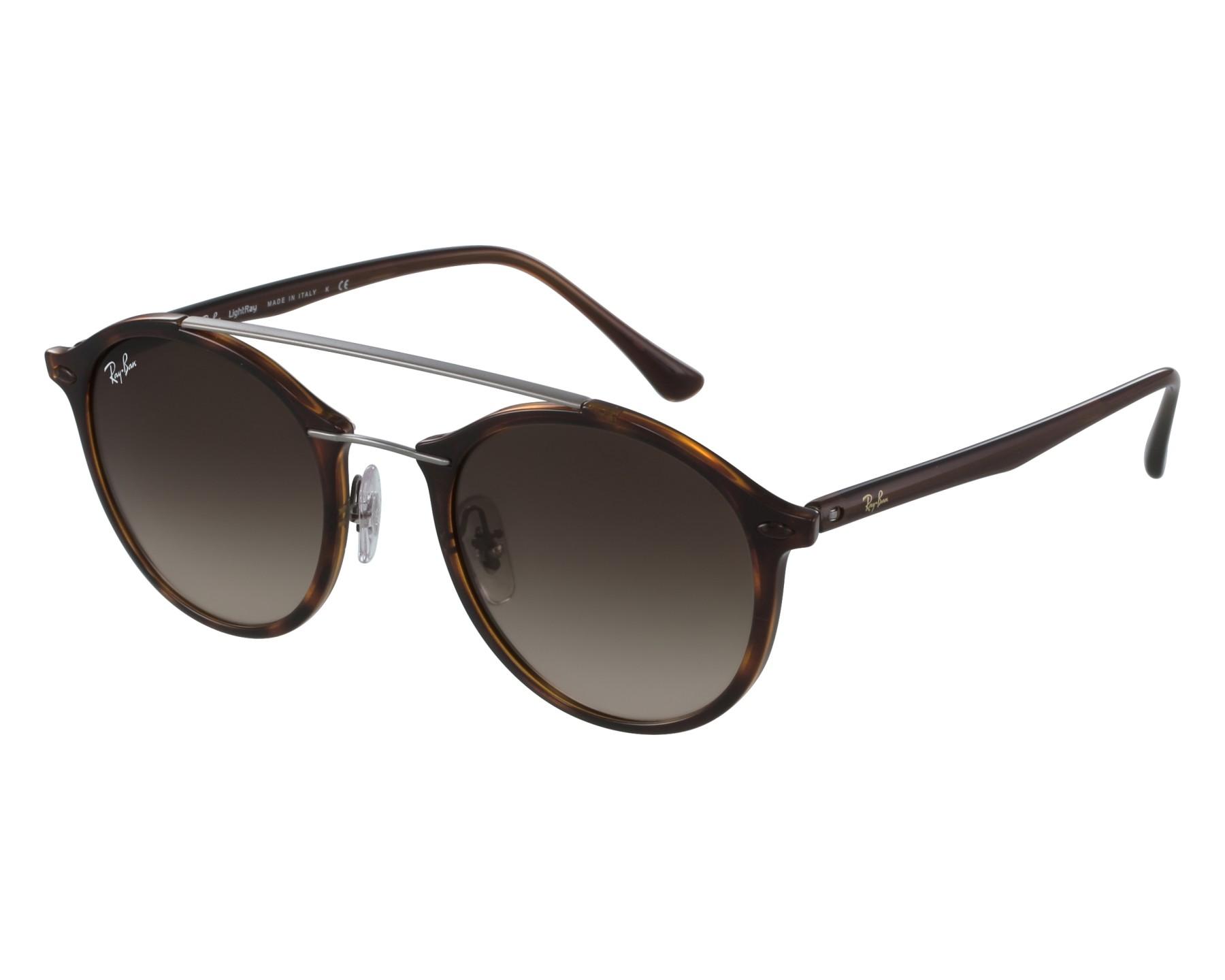 lunettes de soleil ray ban rb 4266 620113 havane avec des verres marron pour hommes taille 49. Black Bedroom Furniture Sets. Home Design Ideas