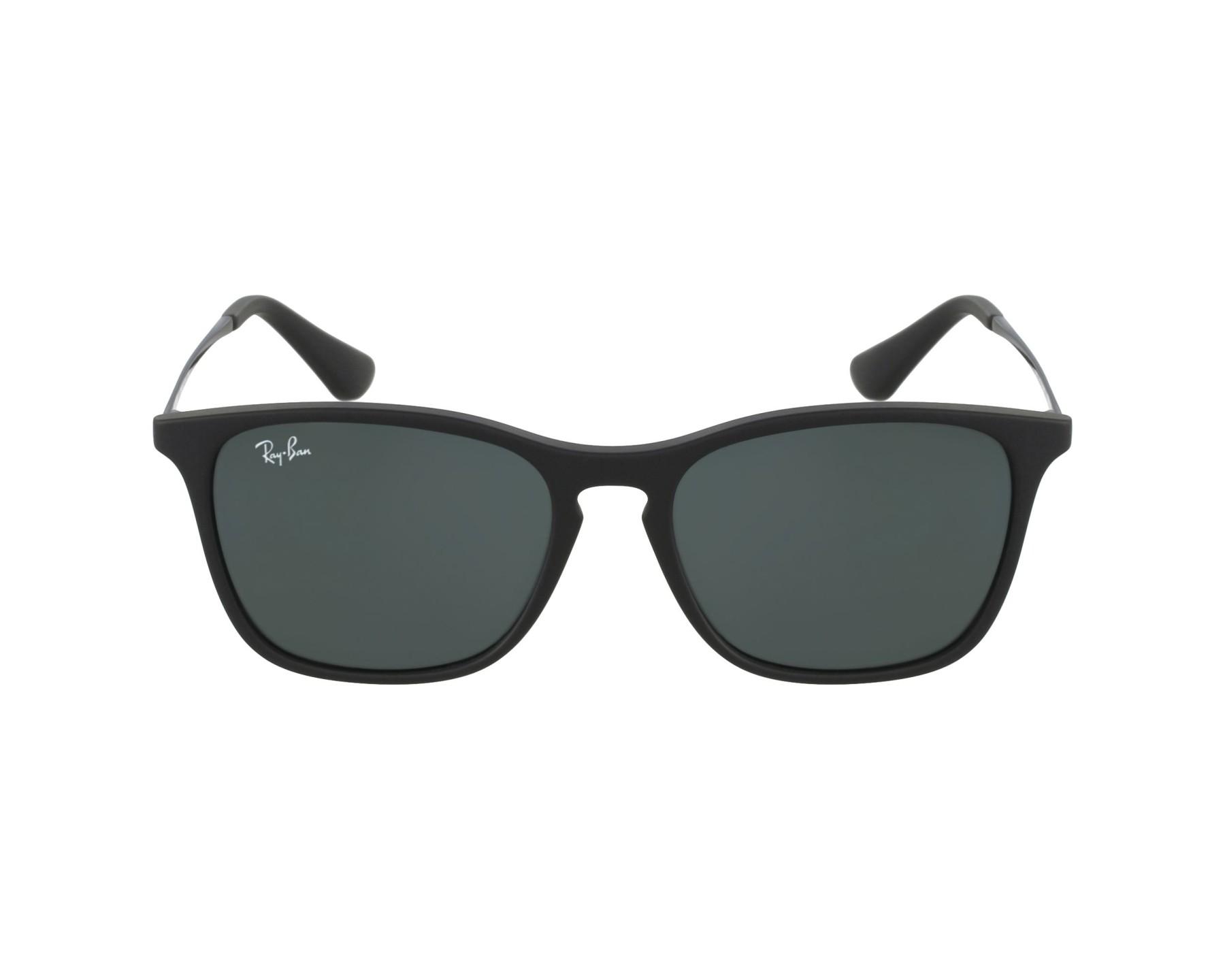 lunettes de soleil ray ban rj 9061 s 700571 noir avec des verres gris. Black Bedroom Furniture Sets. Home Design Ideas