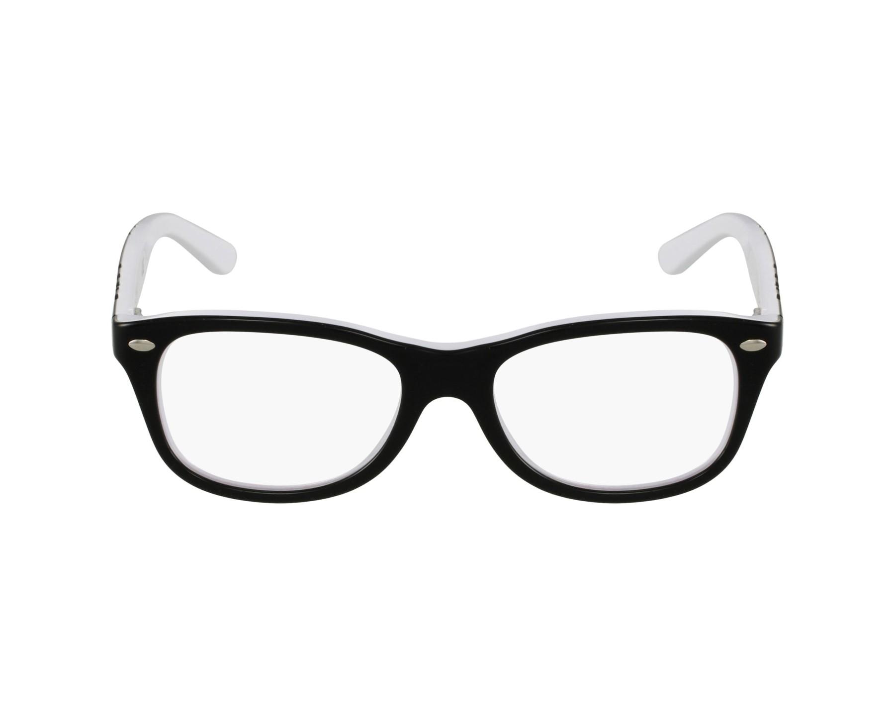 lunette ray ban noir et blanche