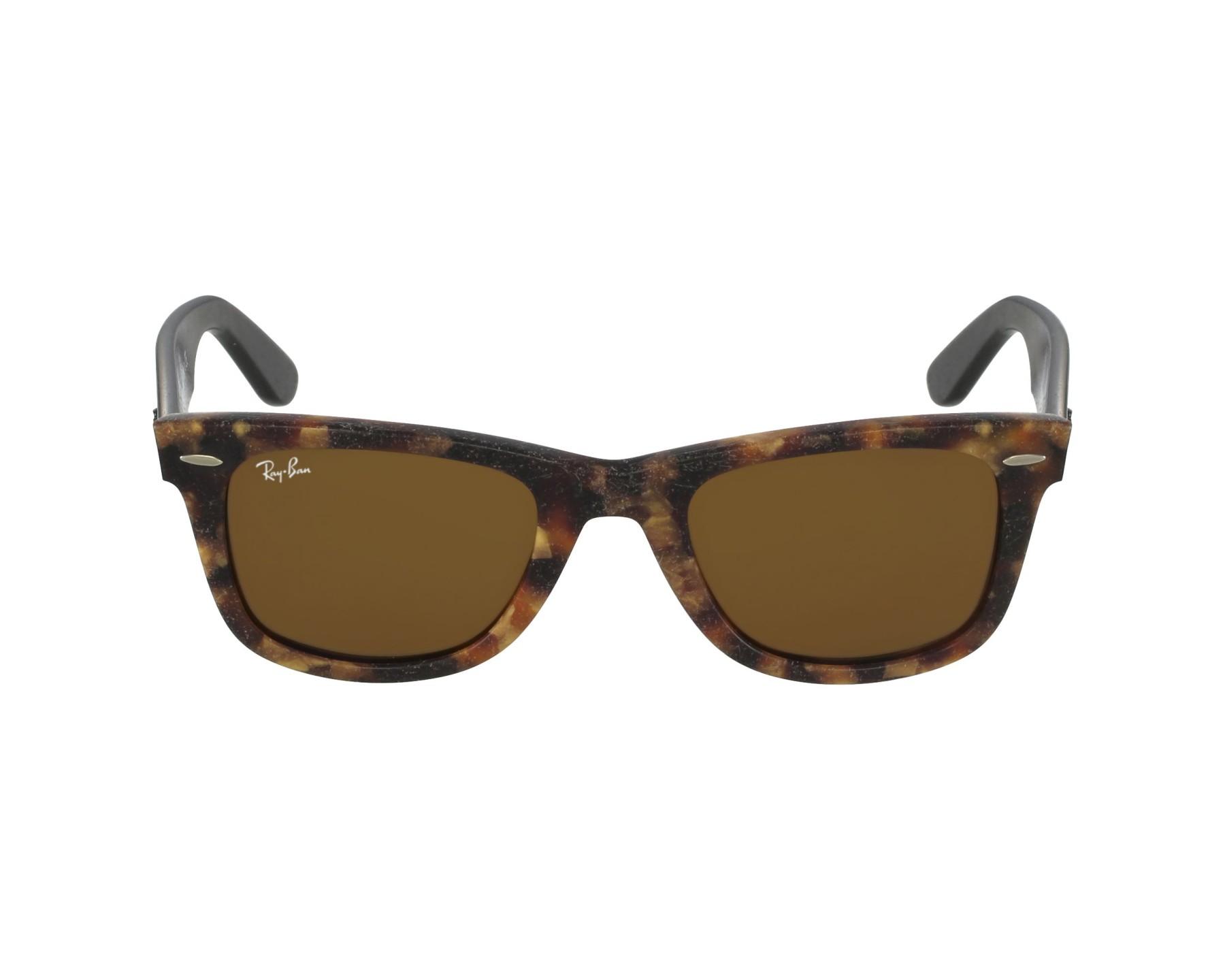 lunettes de soleil ray ban rb 2140 1187 havane avec des verres marron. Black Bedroom Furniture Sets. Home Design Ideas