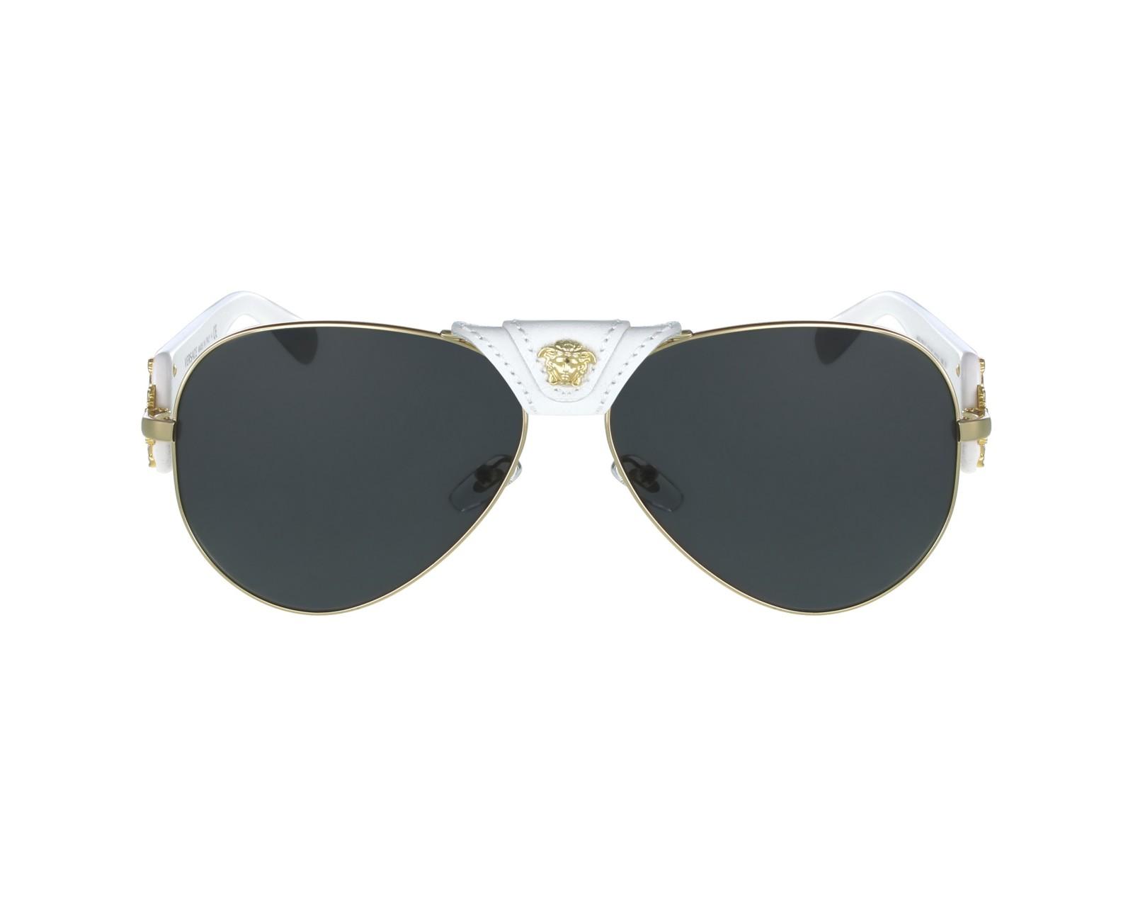 lunettes de soleil versace ve 2150 q 1341 87 or avec des verres gris. Black Bedroom Furniture Sets. Home Design Ideas