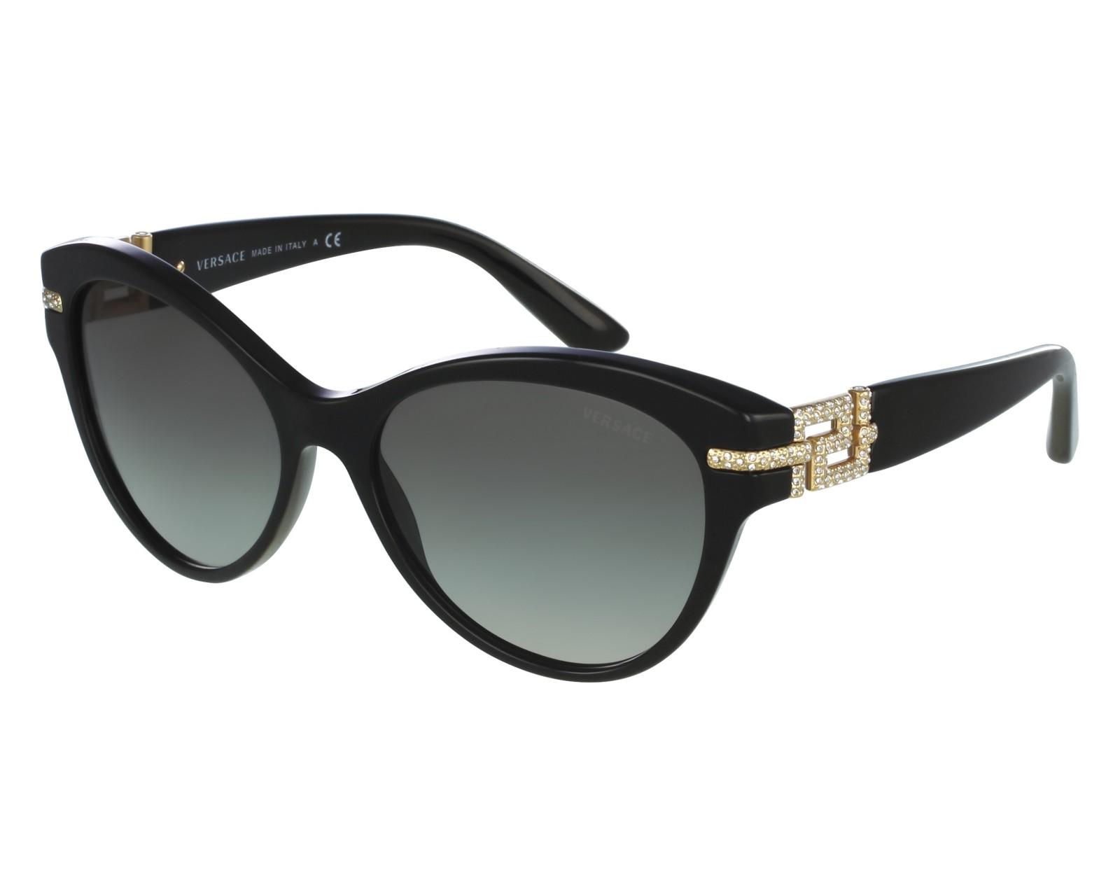 lunettes de soleil versace ve 4283 b gb1 11 noir visionet. Black Bedroom Furniture Sets. Home Design Ideas
