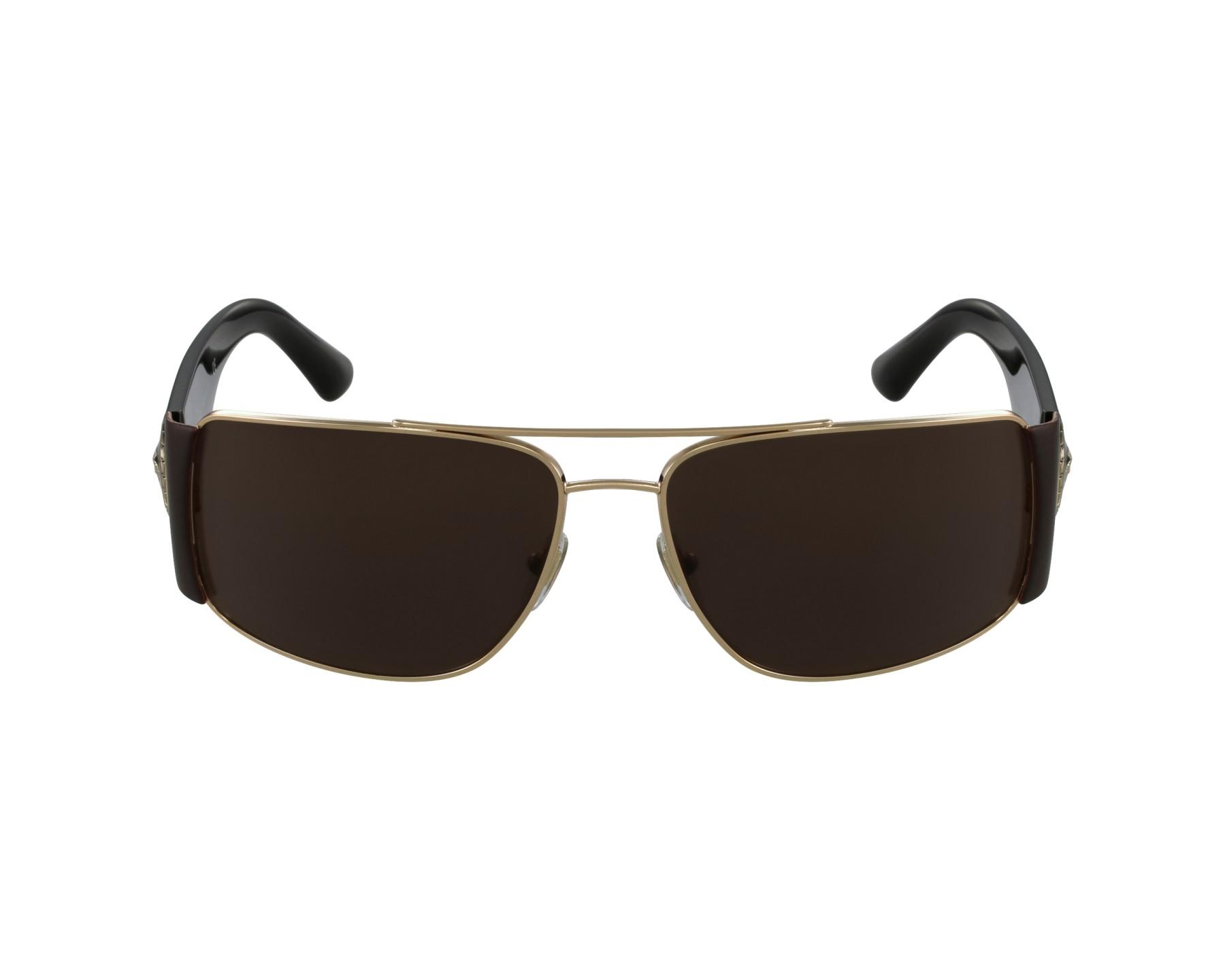 lunettes de soleil versace ve 2163 1002 73 or avec des verres marron pour hommes. Black Bedroom Furniture Sets. Home Design Ideas