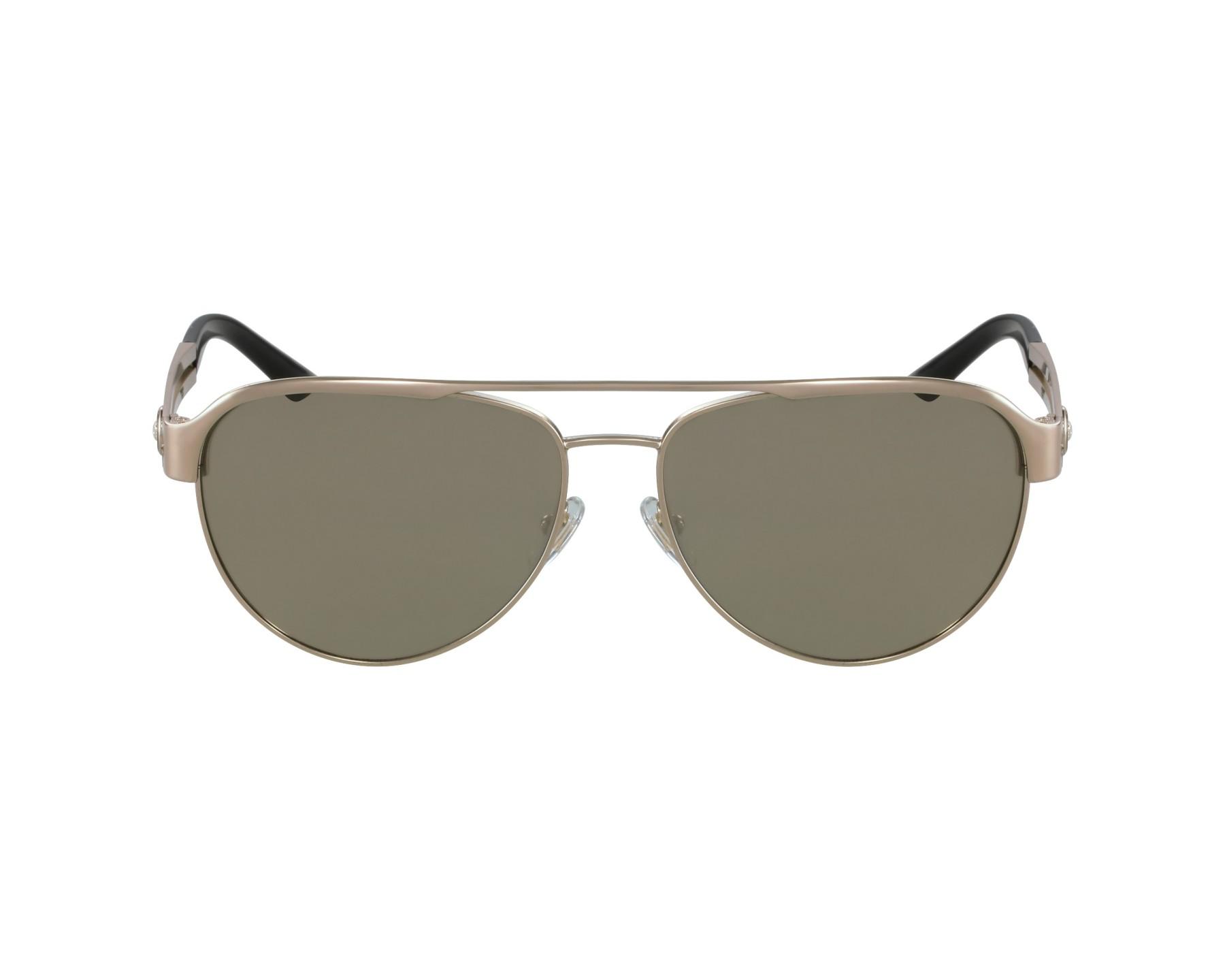 lunettes de soleil versace ve 2165 1252 5a or avec des verres marron. Black Bedroom Furniture Sets. Home Design Ideas