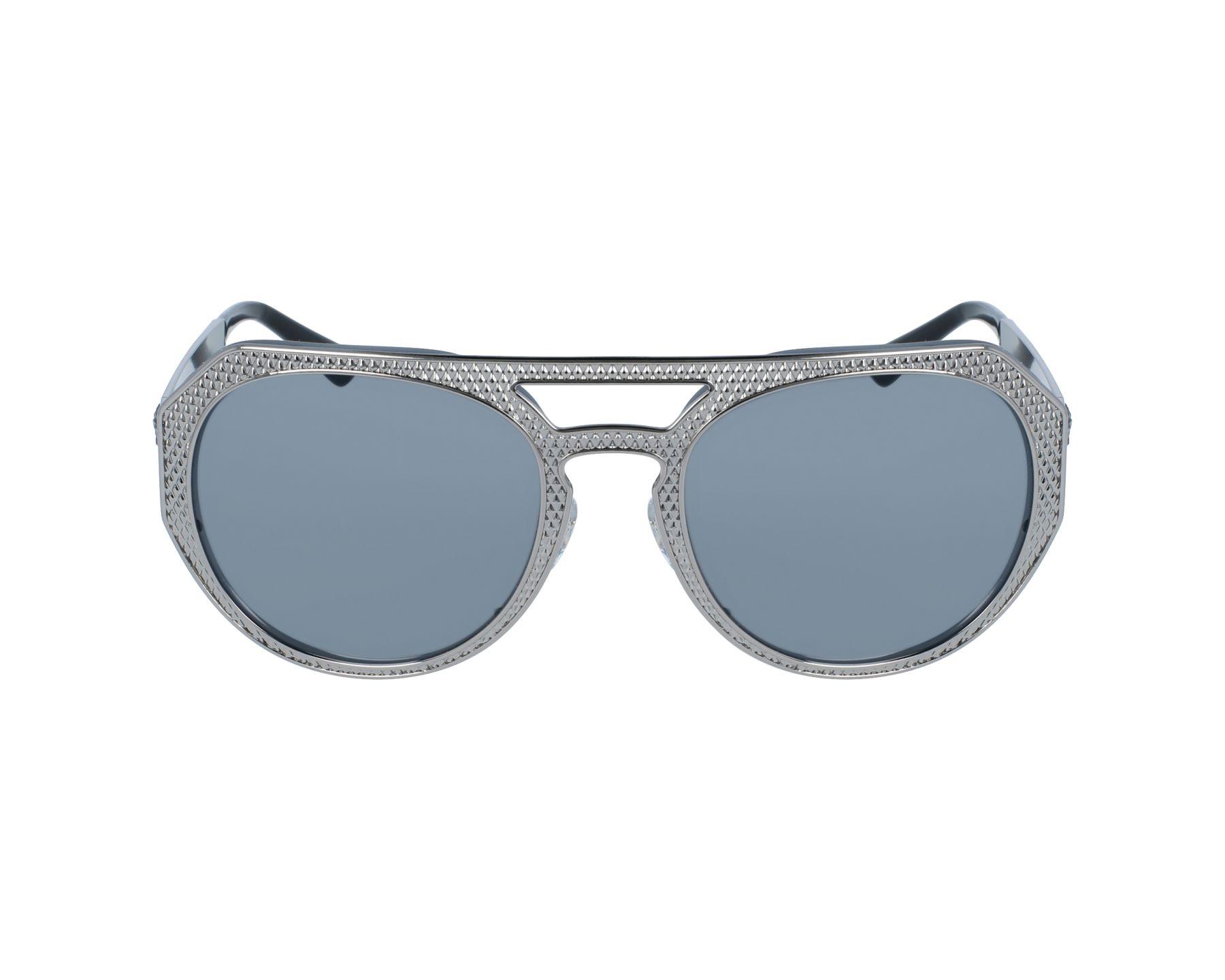 Lunettes de soleil versace ve 2175 1001 6g argent avec des verres gris pour femmes - Verre lunette raye assurance ...