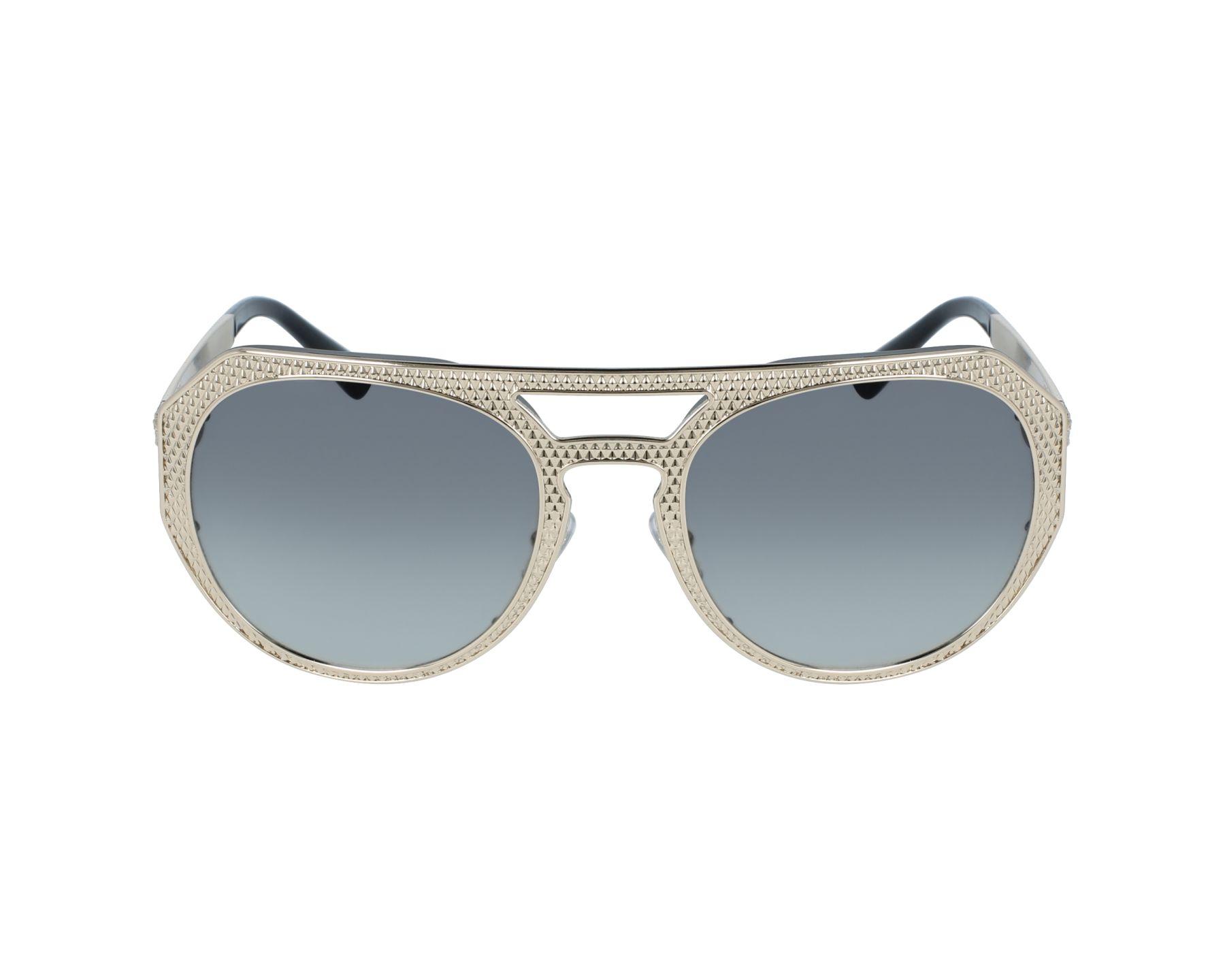 lunettes de soleil versace ve 2175 1252 11 or avec des verres gris. Black Bedroom Furniture Sets. Home Design Ideas