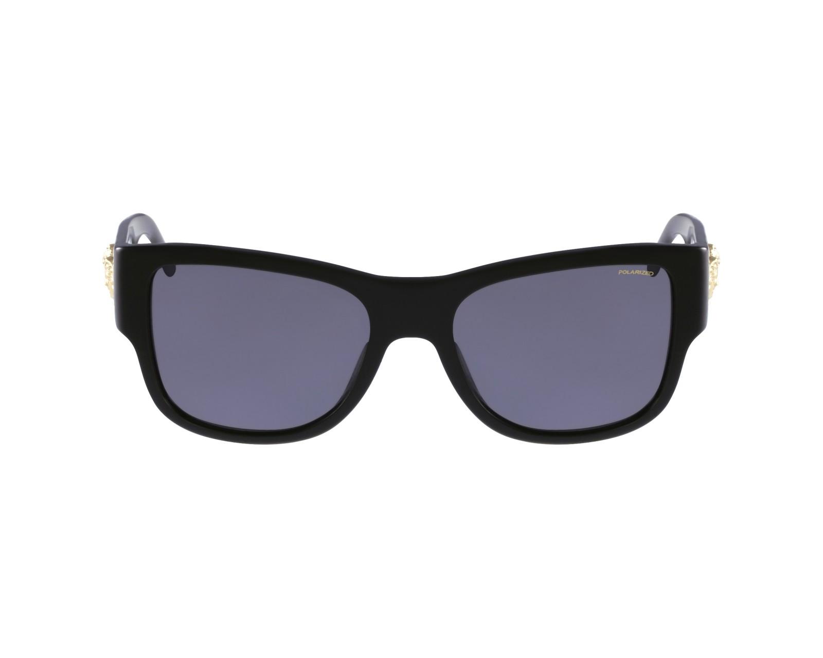 lunettes de soleil versace ve 4275 gb1 81 noir avec des verres gris pour hommes. Black Bedroom Furniture Sets. Home Design Ideas