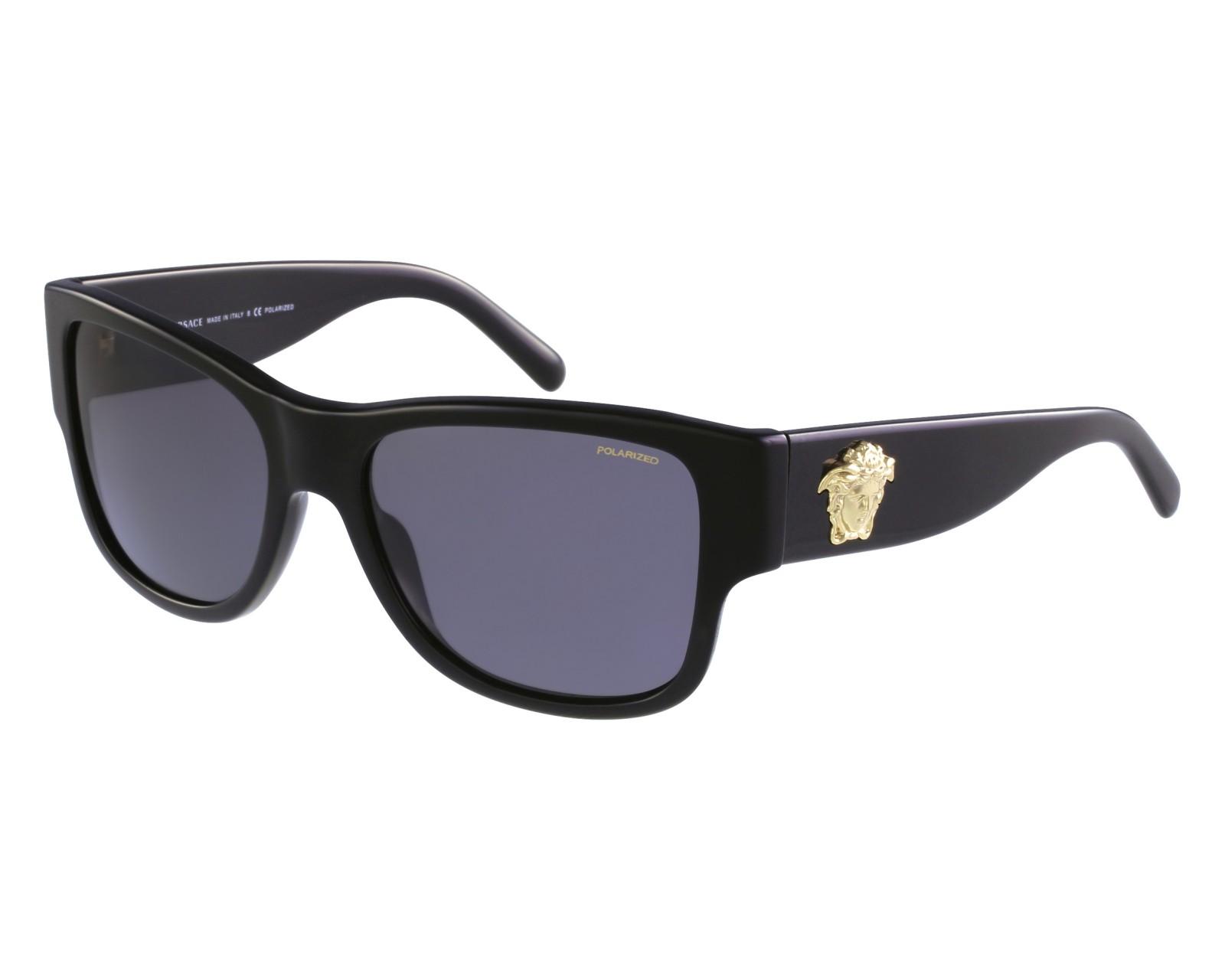7adc453754 Lunettes de soleil Versace VE-4275 GB1/81 58-18 Noir vue de