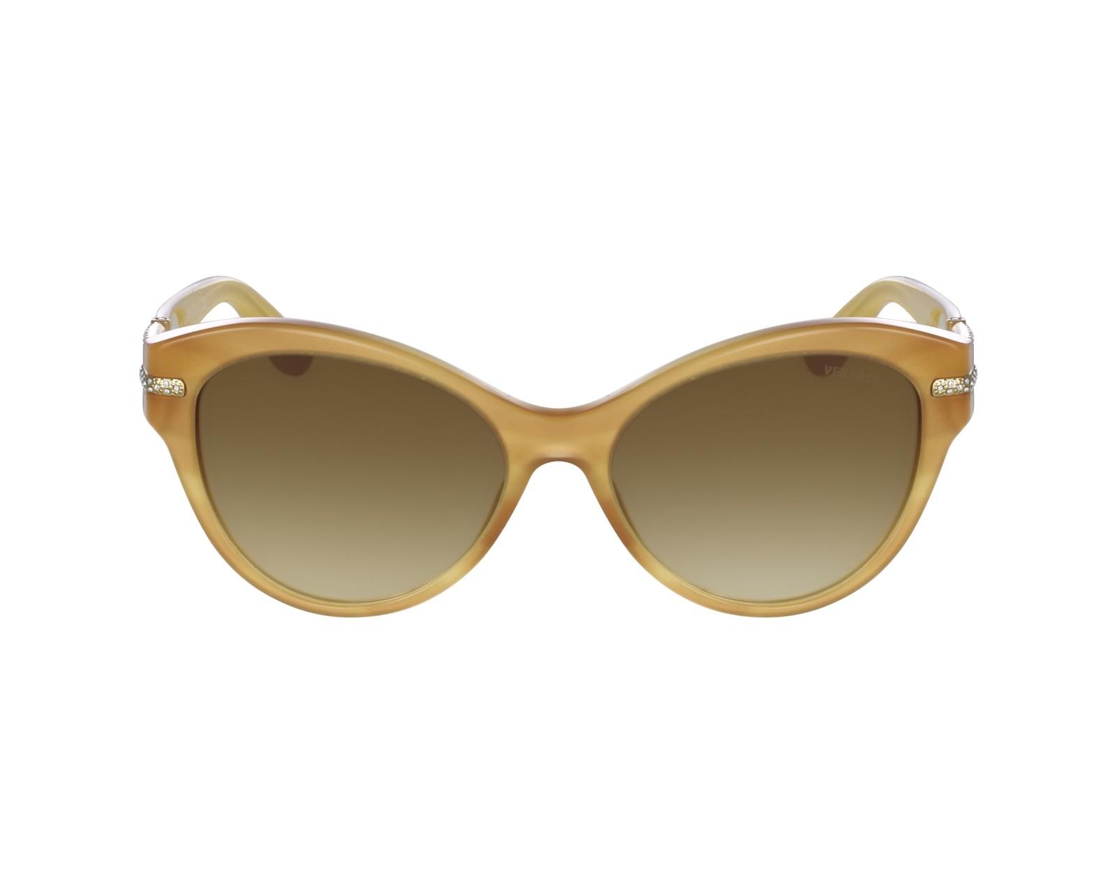 lunettes de soleil versace ve 4283 b 640 2l beige avec des verres marron. Black Bedroom Furniture Sets. Home Design Ideas