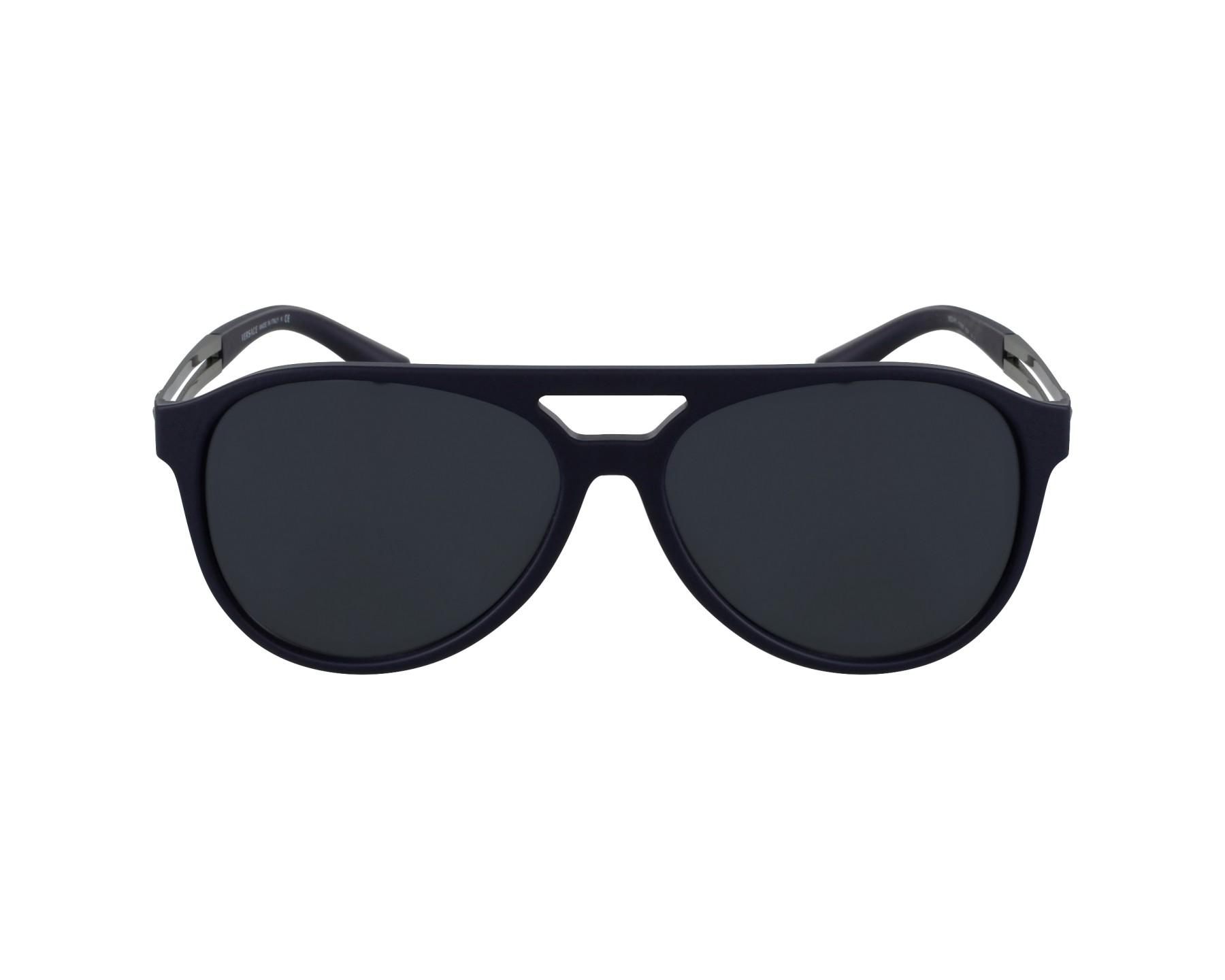 lunettes de soleil versace ve 4312 5176 87 bleu avec des verres gris bleu pour hommes taille 60. Black Bedroom Furniture Sets. Home Design Ideas