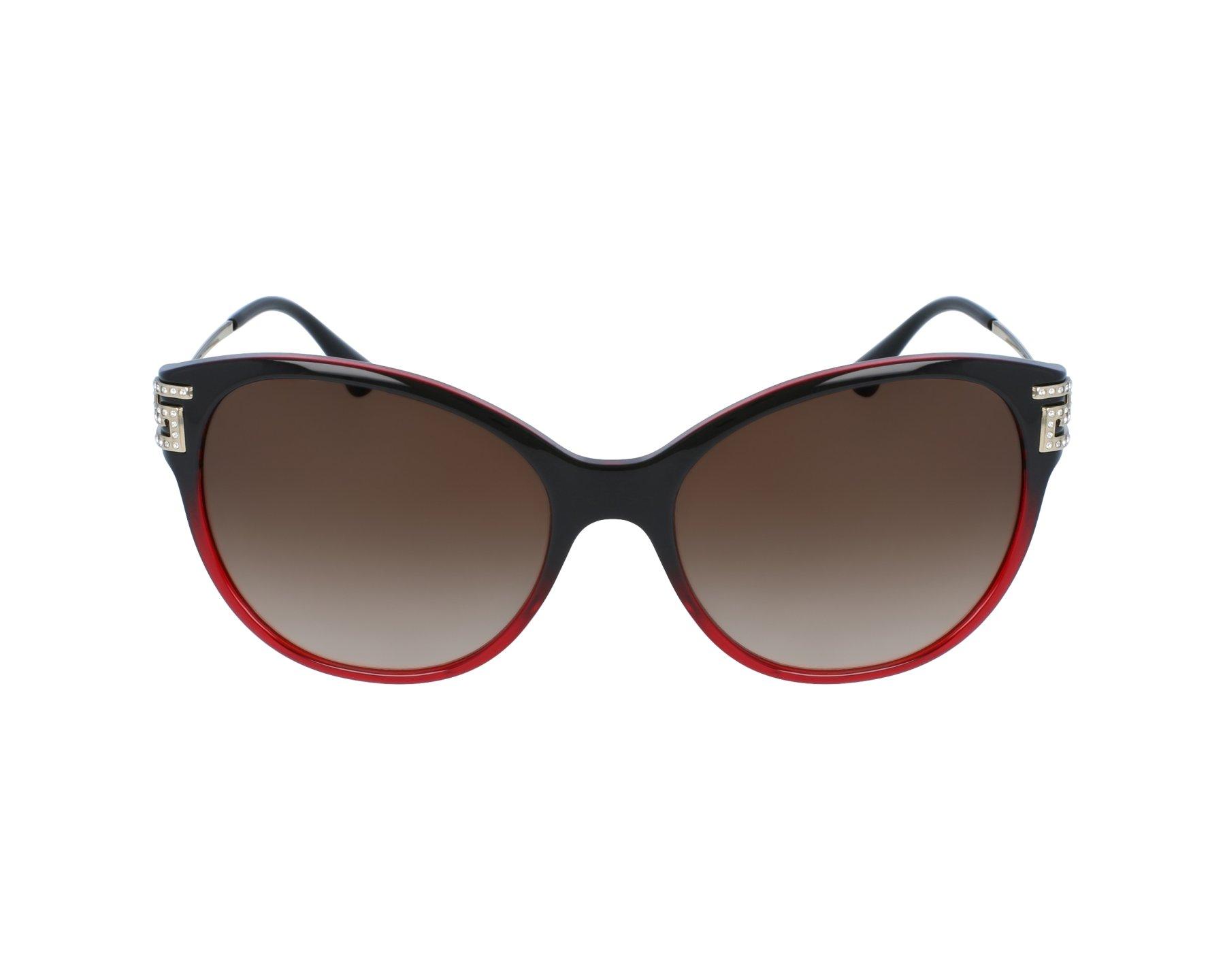 lunettes de soleil versace ve 4316 b 5075 13 bordeaux avec des verres marron. Black Bedroom Furniture Sets. Home Design Ideas