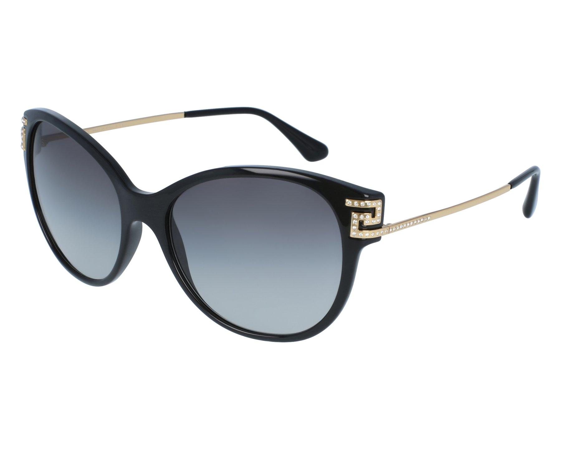 lunettes de soleil versace ve 4316 b gb1 11 noir avec des verres gris pour femmes. Black Bedroom Furniture Sets. Home Design Ideas