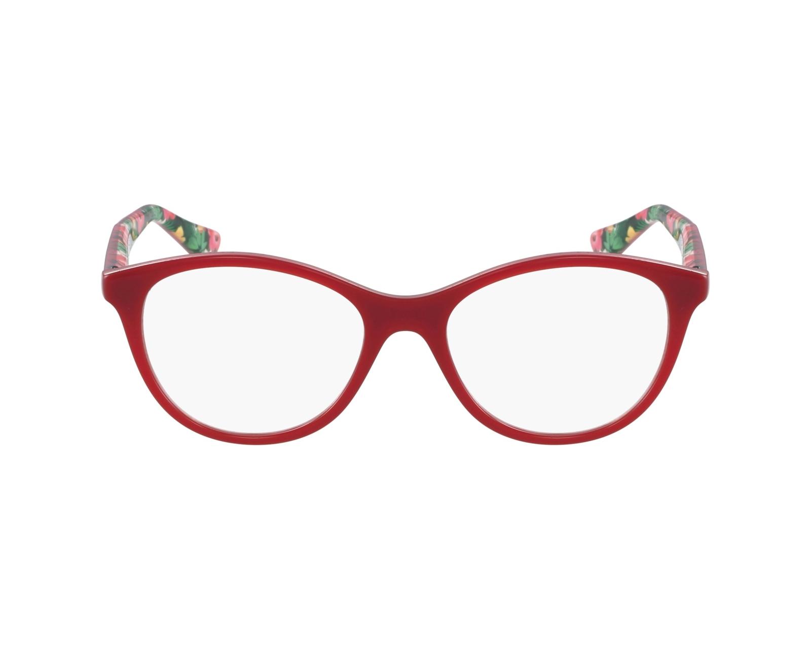 1a0d94f4e75f08 Lunettes de vue Vogue VO-2988 2340 51-17 Rouge Bordeaux vue de profil
