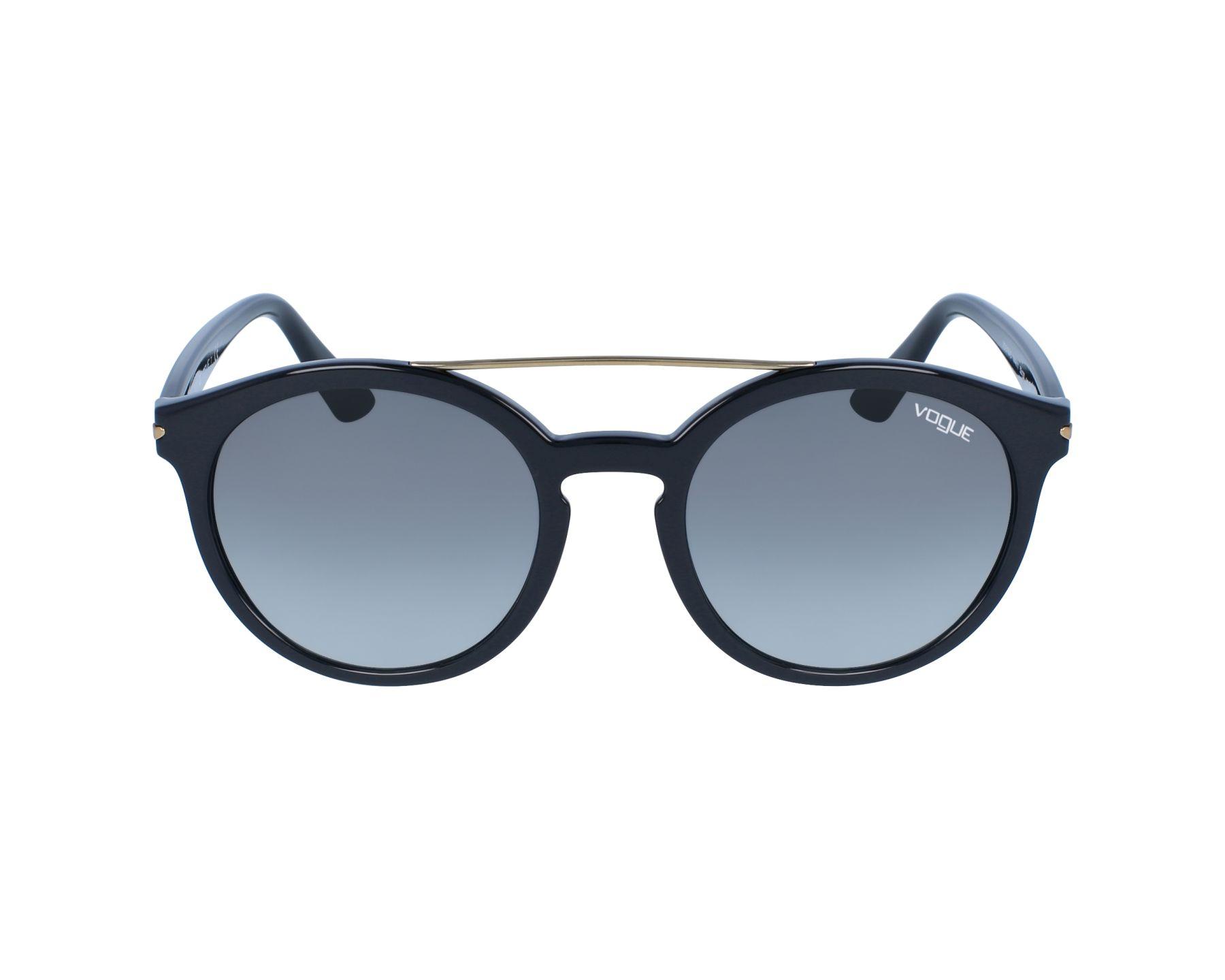 5d01f62c65 Lunettes de soleil Vogue VO-5133 W44/11 53-20 Noir Or vue