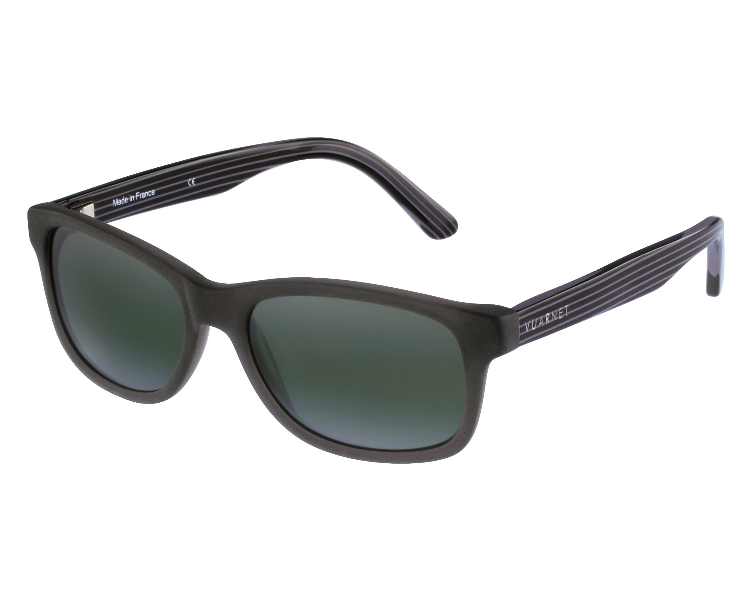 Lunettes de soleil vuarnet vl 1303 0003 gris avec des verres gris vert - Verre lunette raye assurance ...